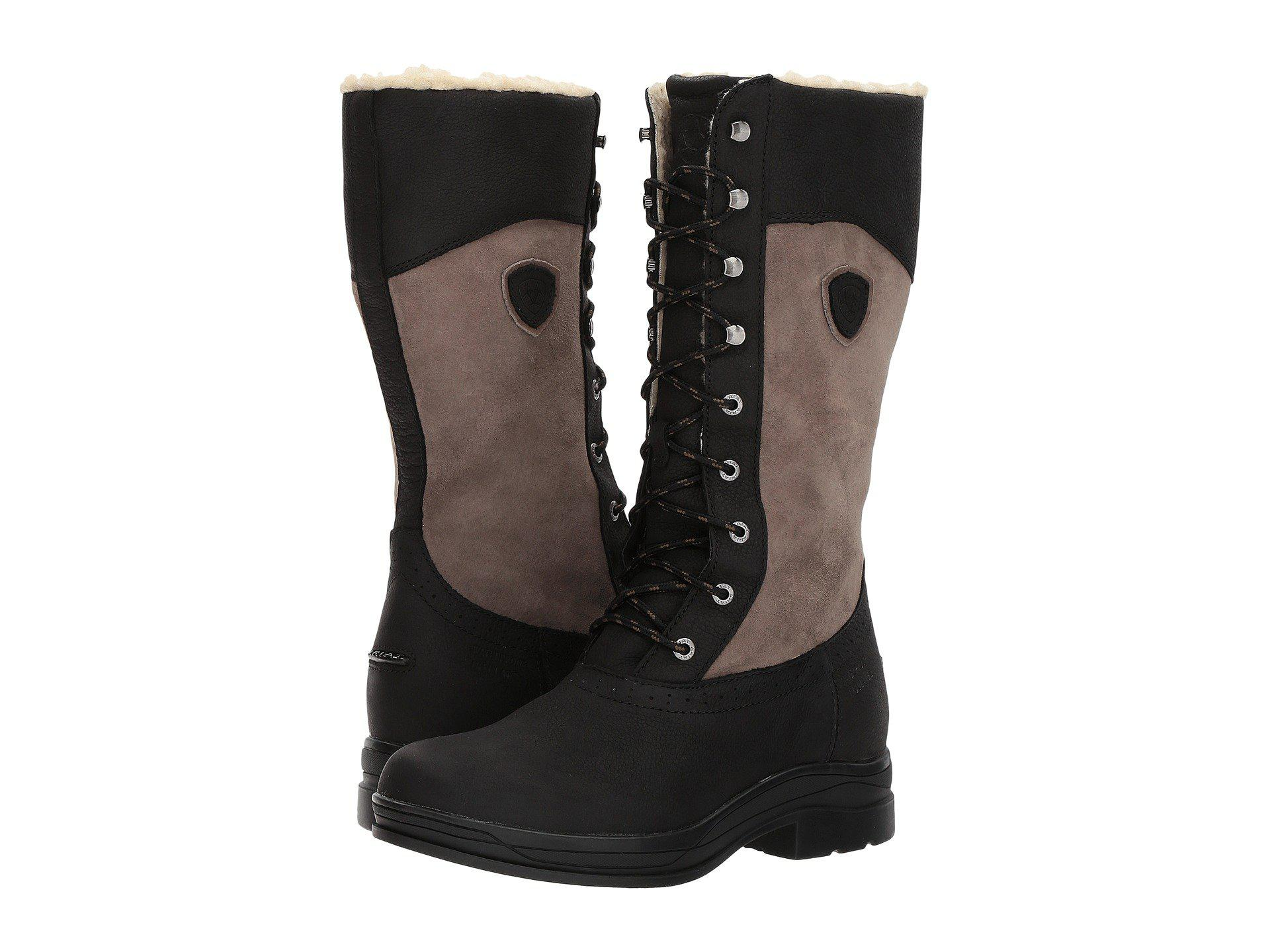 02eaf149fe Lyst - Ariat Wythburn H2o Insulated (black) Women s Lace-up Boots in ...