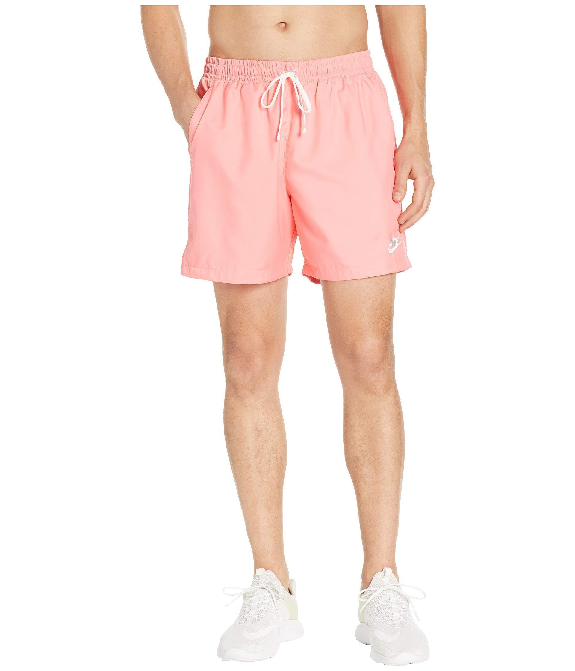 Nsw Woven Flow Shorts (black/white) Men's Shorts