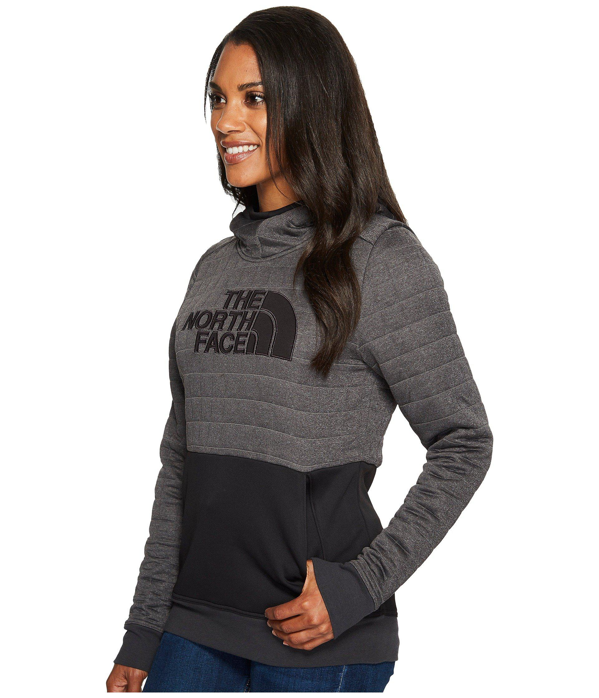 2524f1d43 Women's Gray Half Dome Quilted Pullover Hoodie