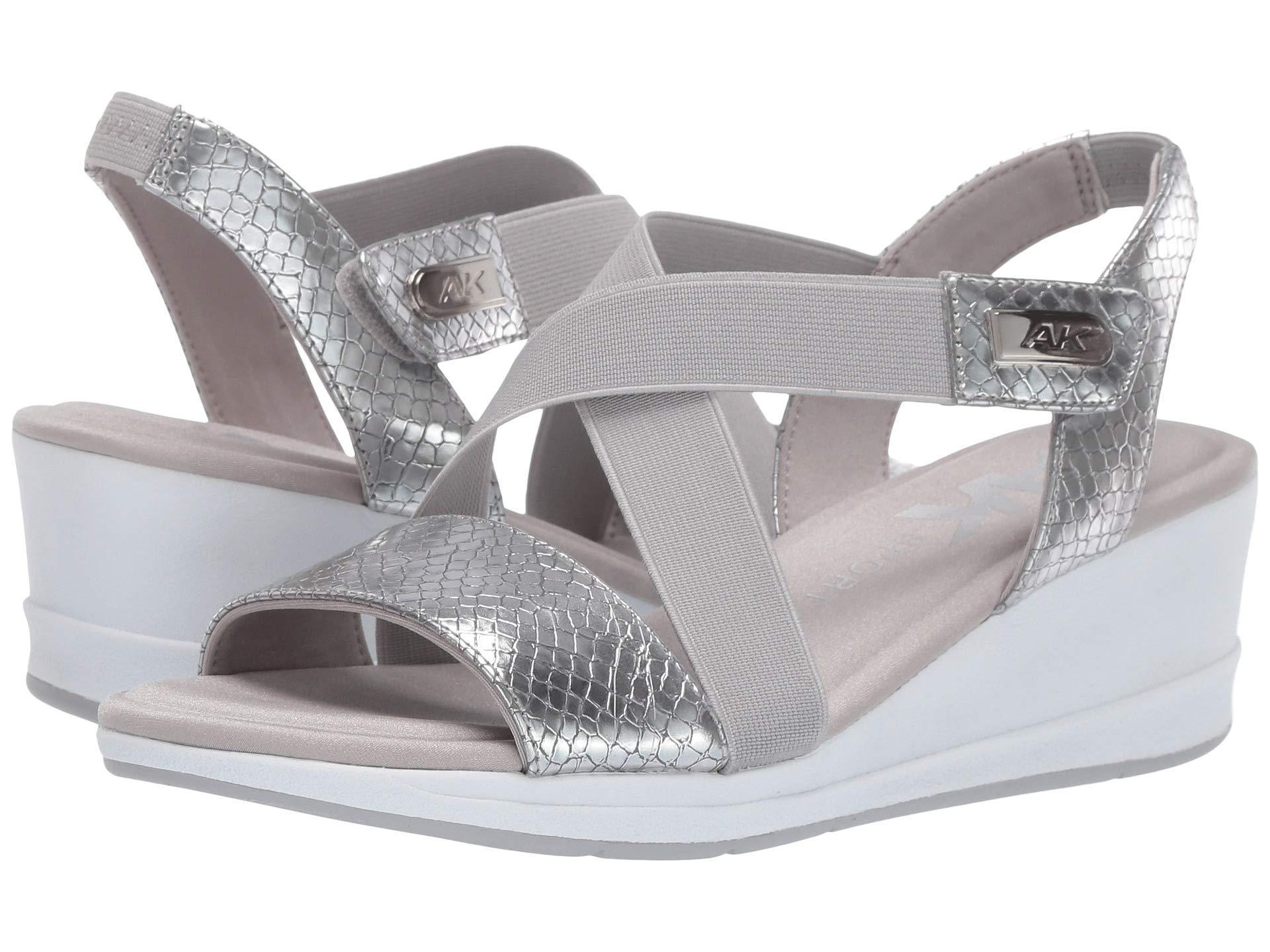 e529cd9f302 Lyst - Anne Klein Sport Nessy Wedge Sandal (silver) Women s Shoes in ...