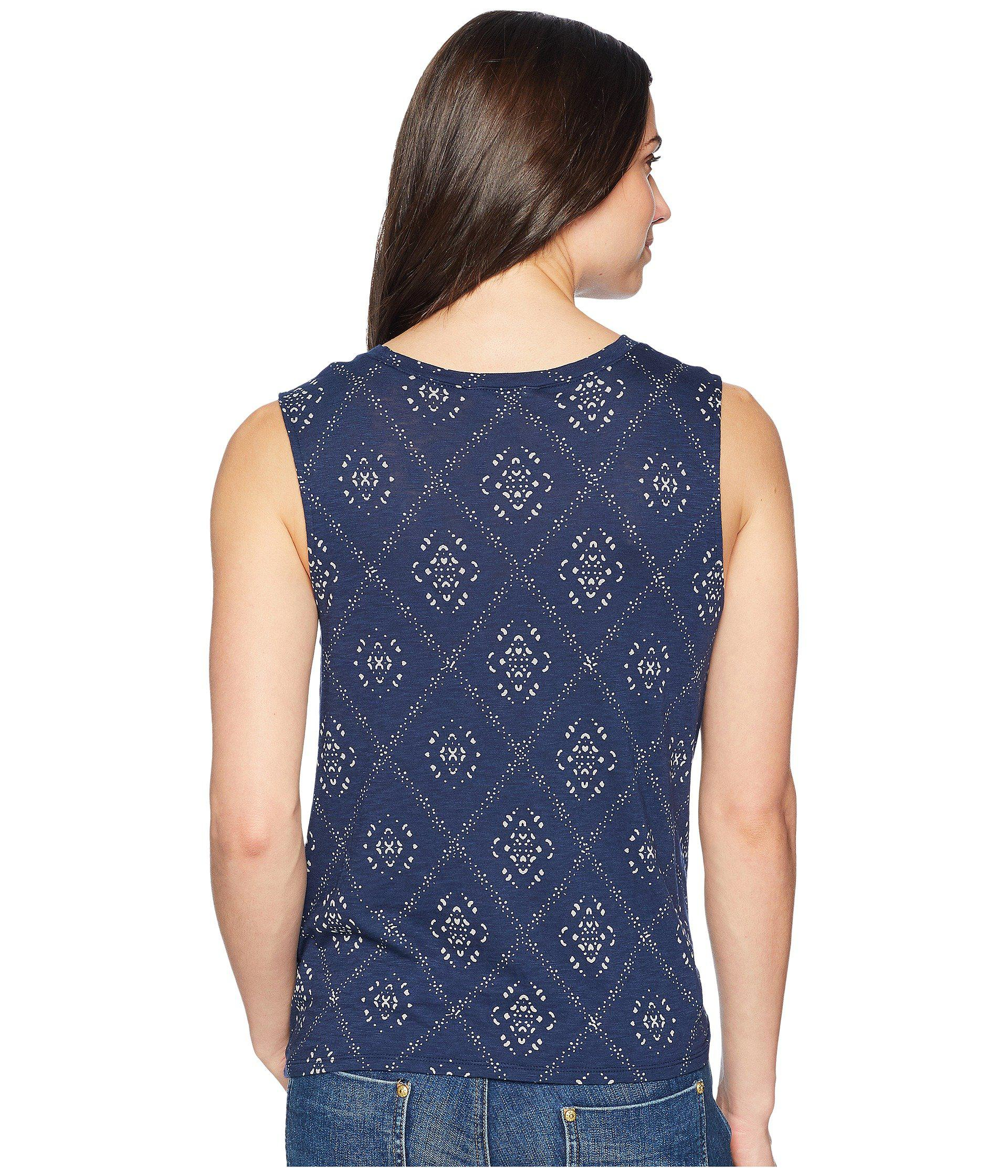Lucky Brand Womens Batik Tank Top