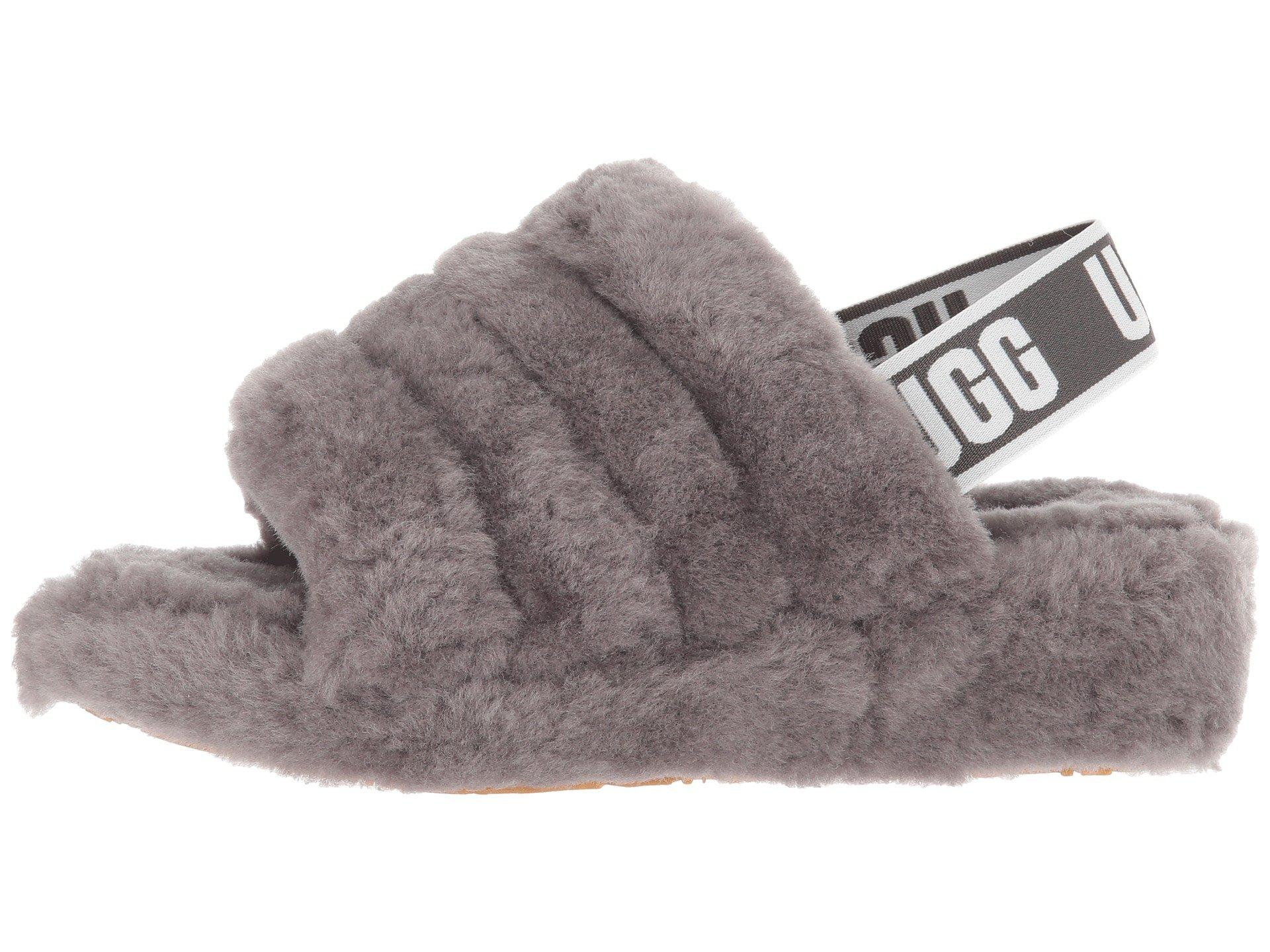 d4e4451a8002 Lyst - UGG Fluff Yeah Fur Slides in Gray - Save 37%