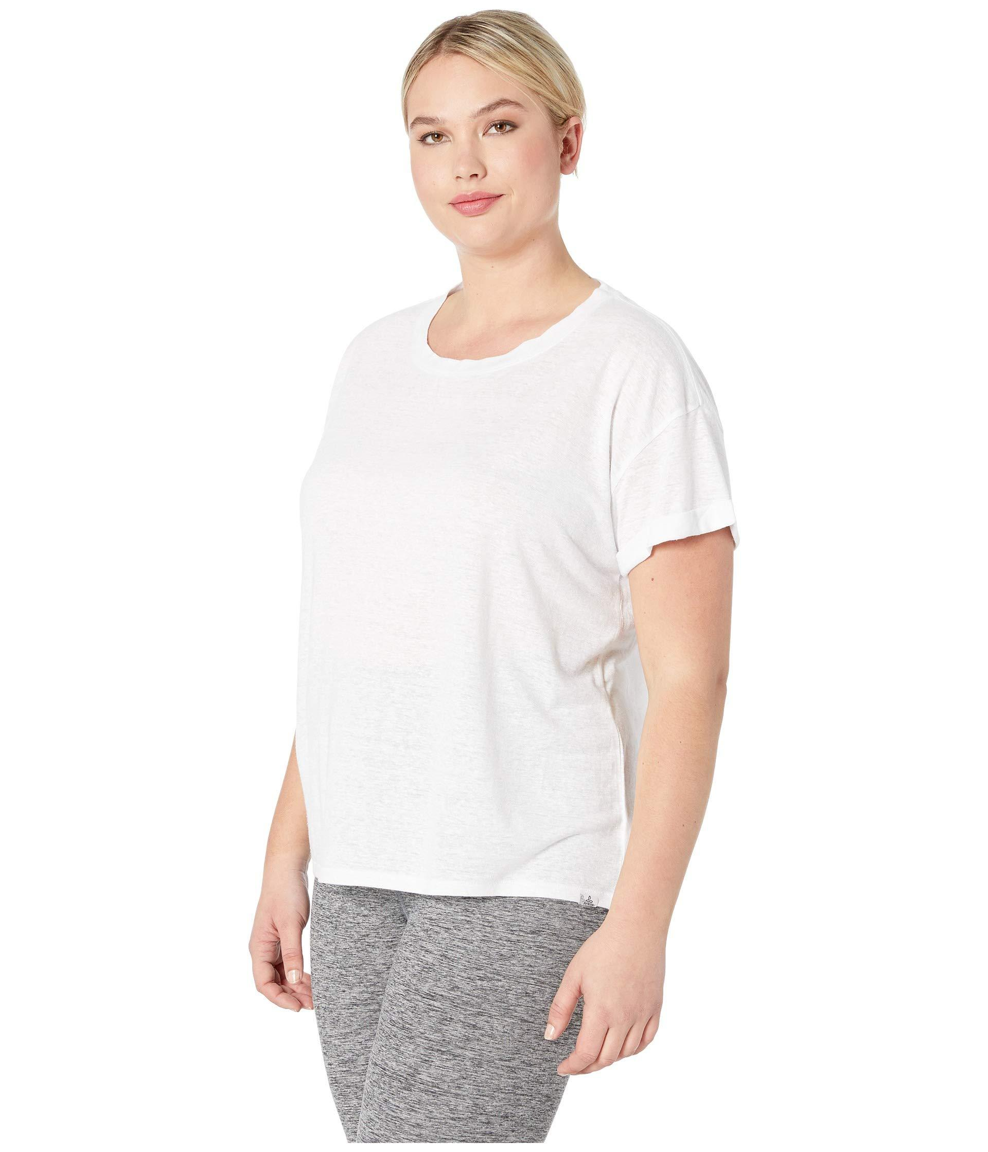 60836f46d Lyst - Prana Plus Size Cozy Up T-shirt (charcoal Heather) Women's T Shirt  in White