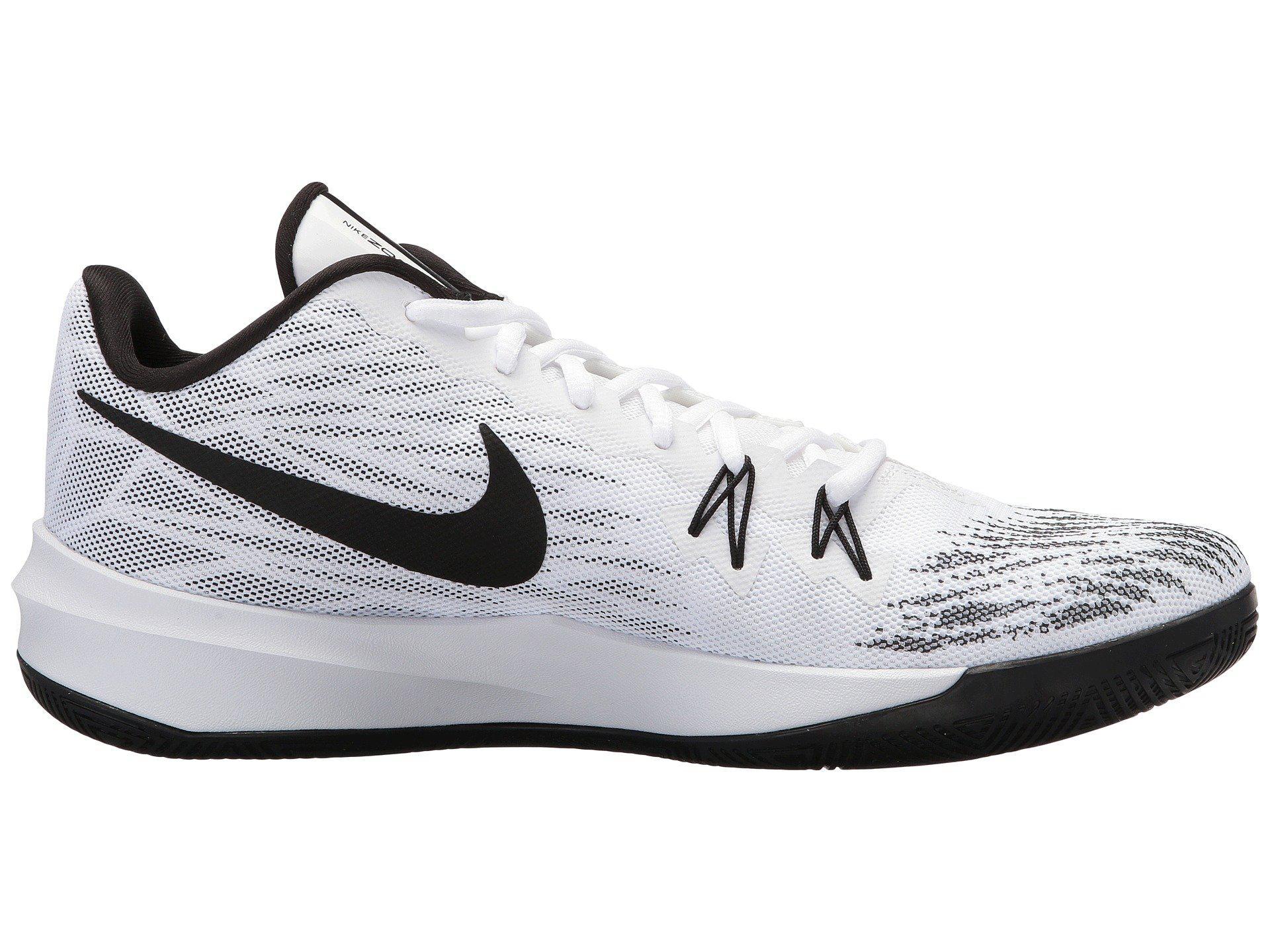 55e906416b6a3 Men's Zoom Evidence Ii (white/black/white) Basketball Shoes