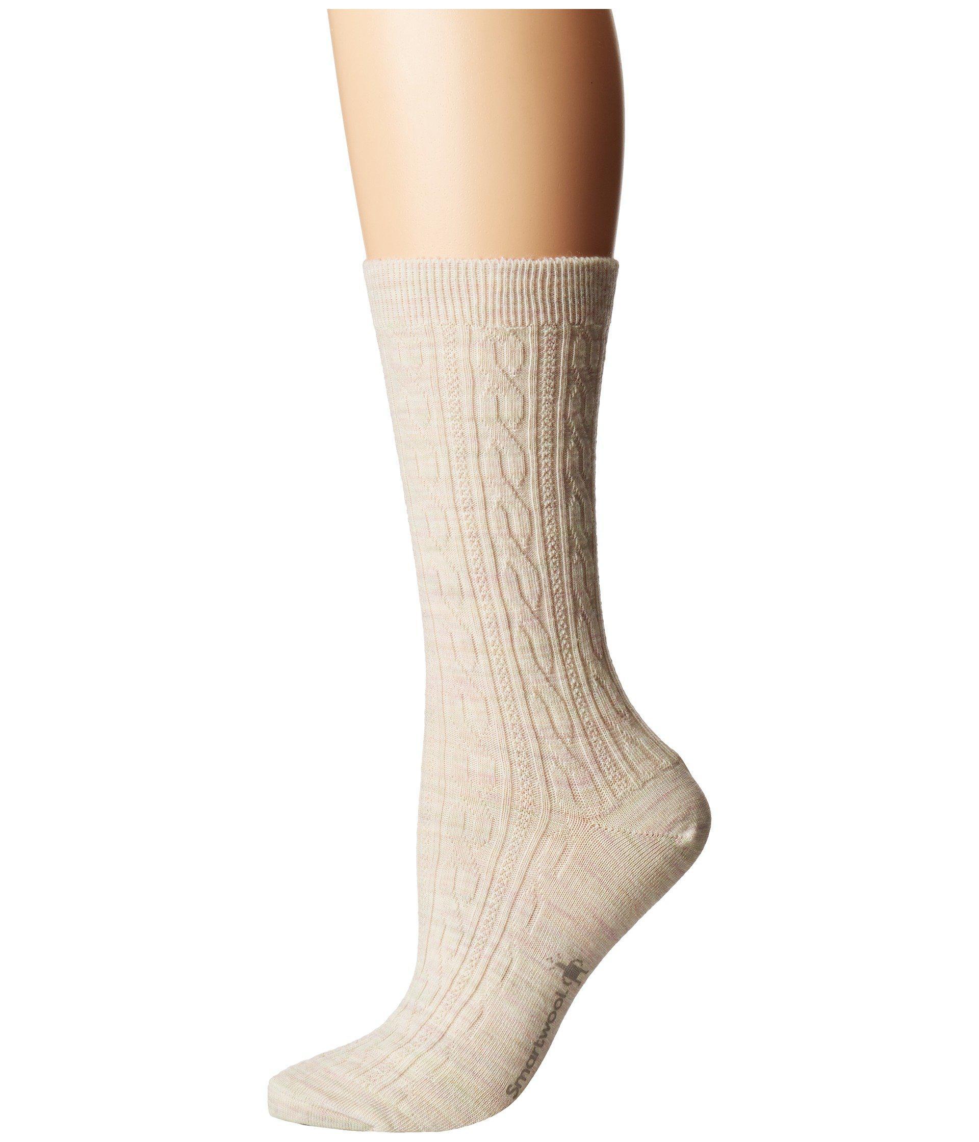 e68a4c23e3278 Smartwool - Natural Cable Ii (medium Gray) Women's Crew Cut Socks Shoes -  Lyst. View fullscreen