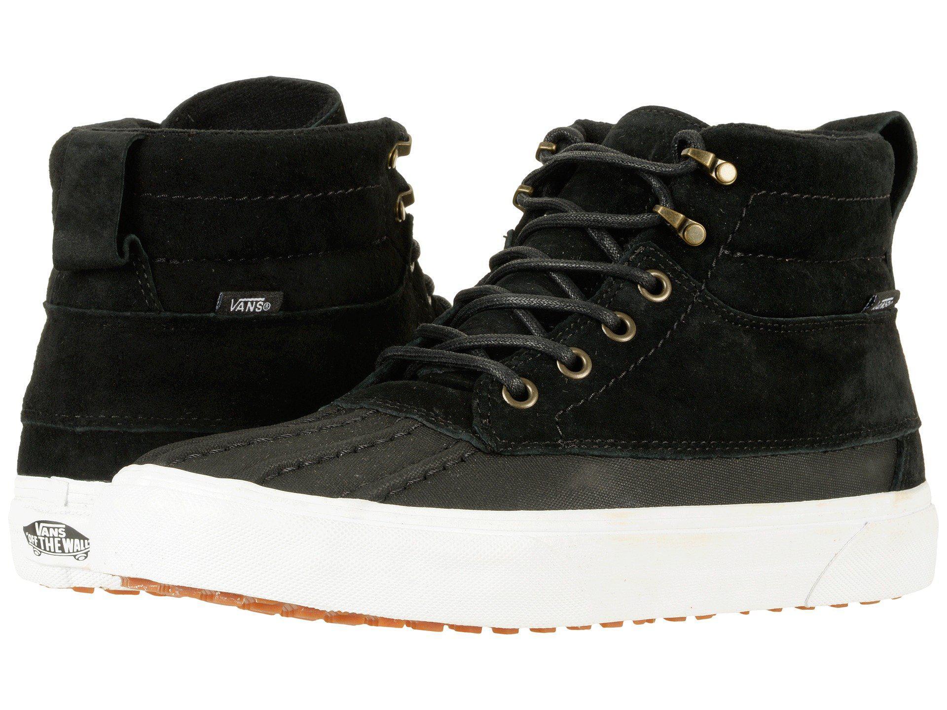 27dfddf0a935a0 Lyst - Vans Sk8-hi Del Pato Mte ((mte) Black true White) Skate Shoes ...