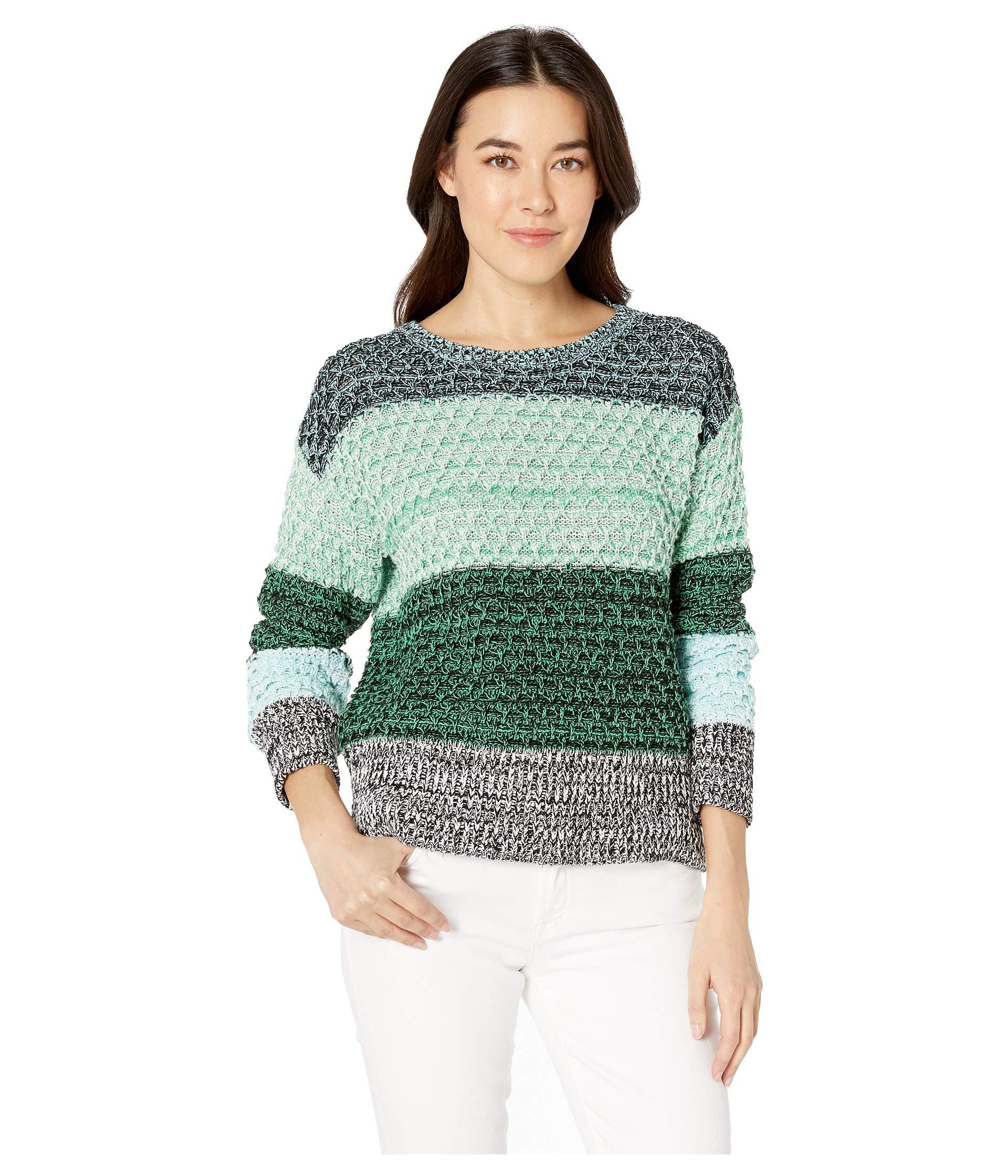 43280d4d060f6 Lyst - Two By Vince Camuto Long Sleeve Color Block Crew Neck Sweater ...
