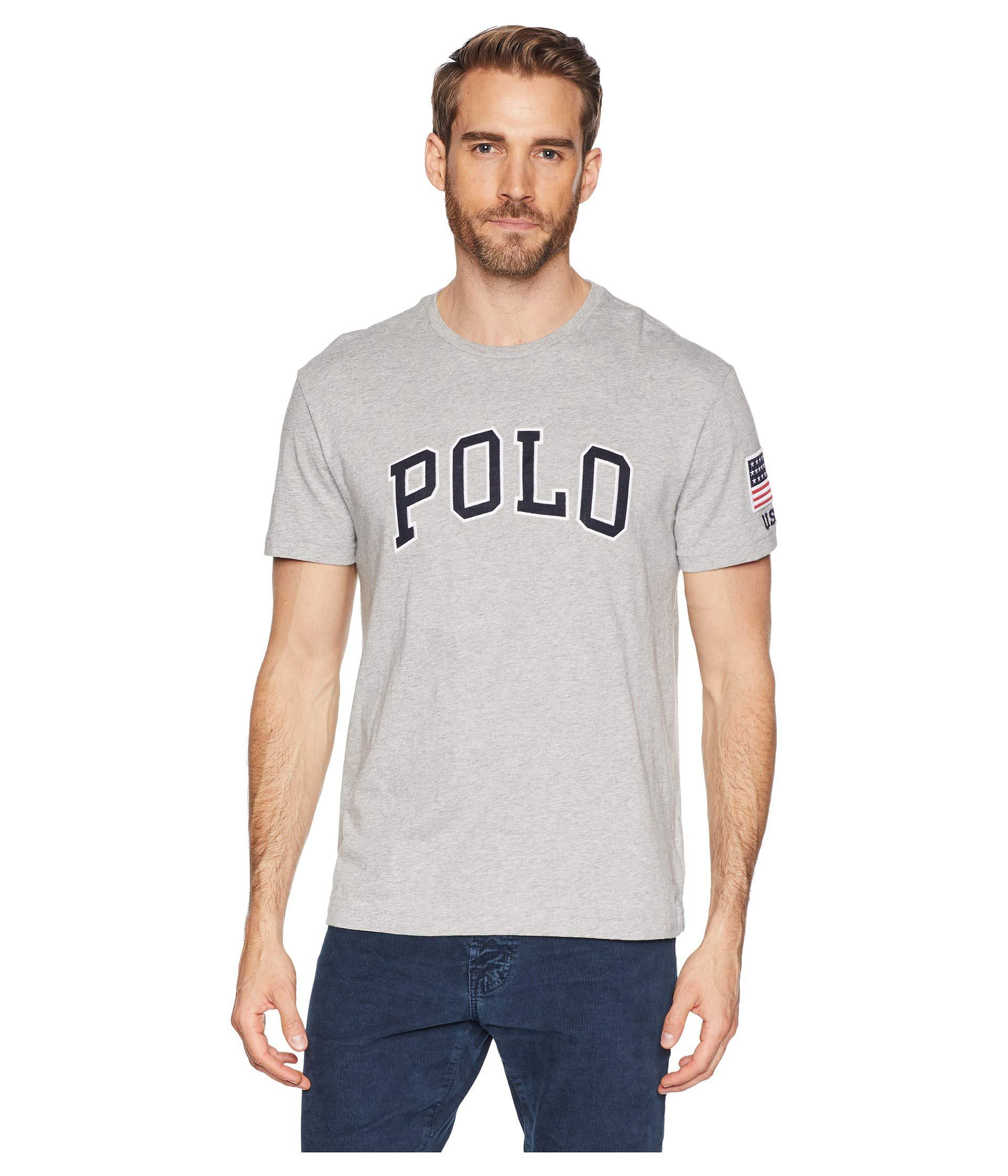 Lyst Polo Ralph Lauren Graphic Crew Neck T Shirt White Mens T