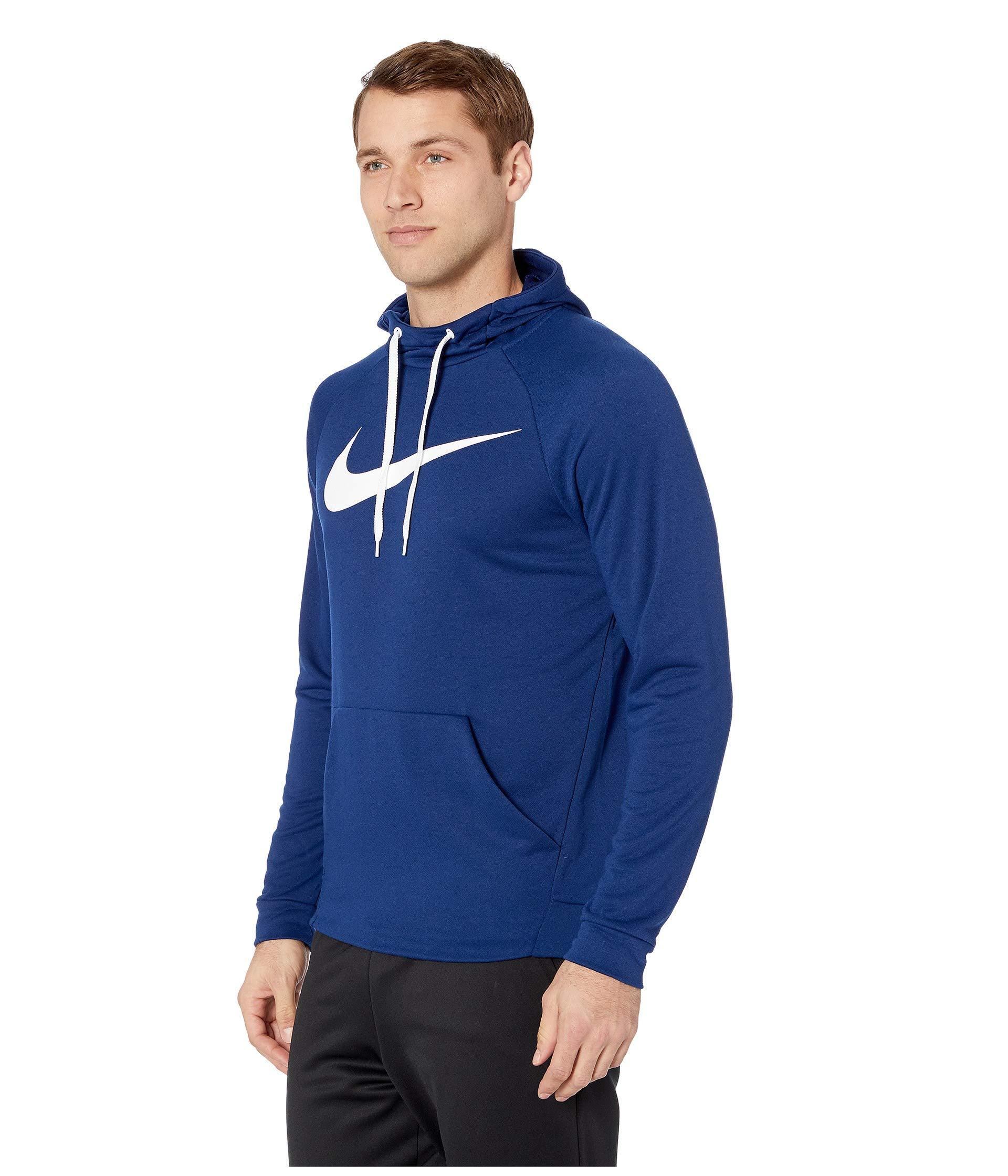 947ef643b301 Lyst - Nike Swoosh Pullover Dry Training Hoodie in Blue for Men