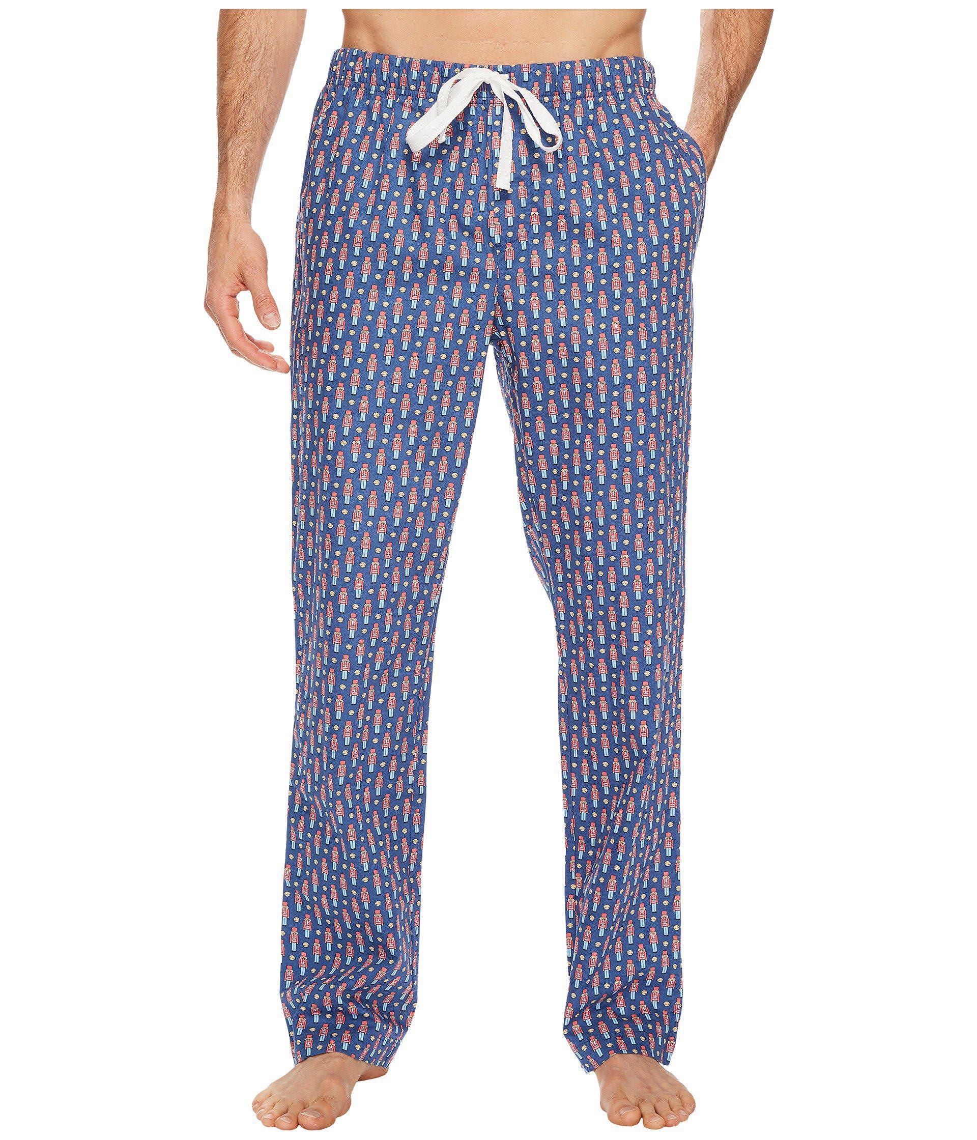 Vineyard Vines Men/'s Moonshine Blue Nutcracker Graphic Lounge Pants