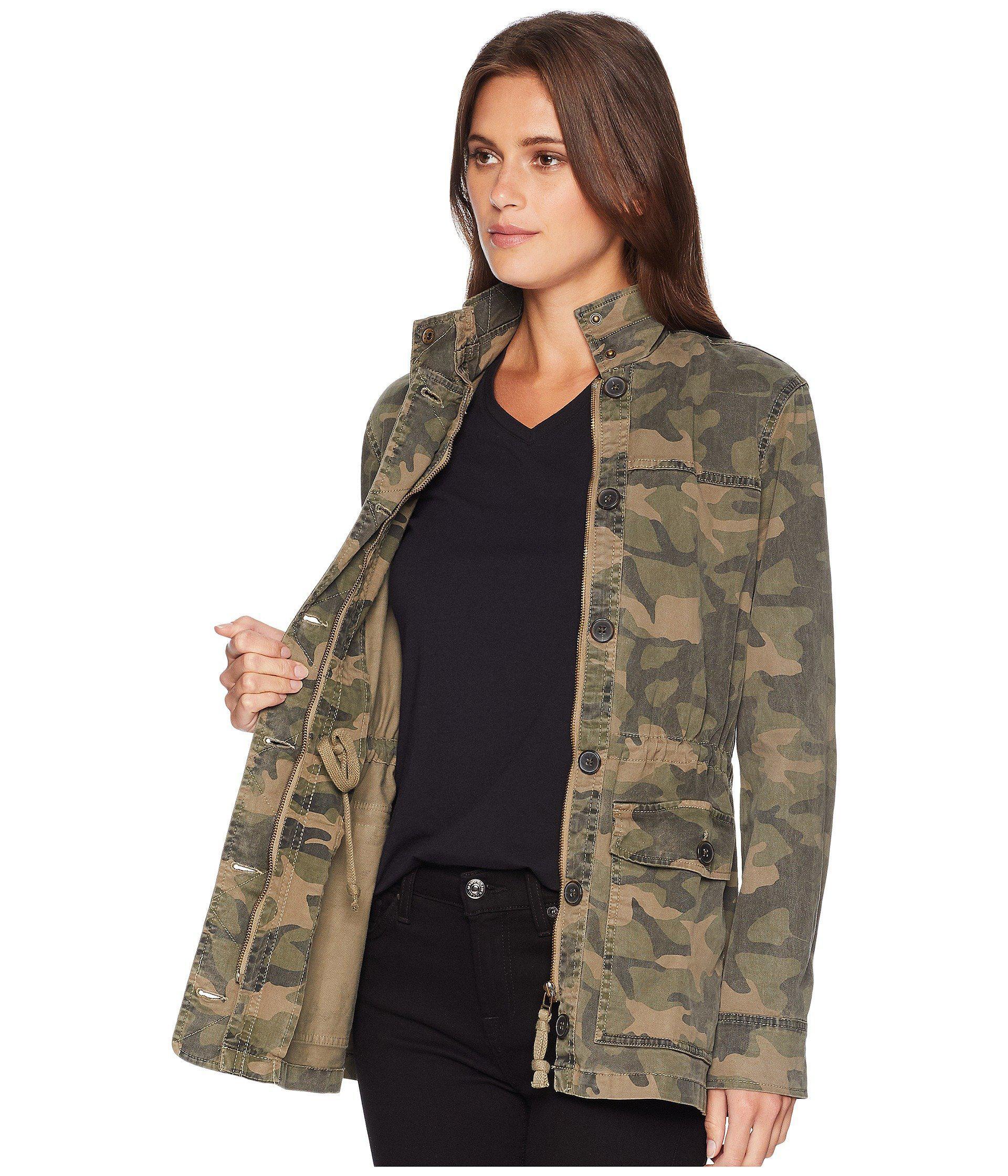 43484597c9816 Lucky Brand Camo Jacket (camo Olive Multi) Women's Coat in Green - Lyst
