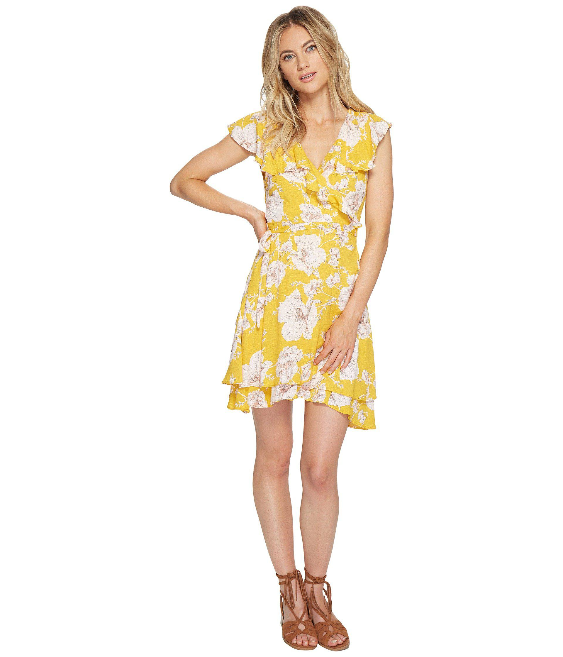 Swing Dress With Puff Sleeves - Yellow FRNCH Sale Online Cheap ooBze7O