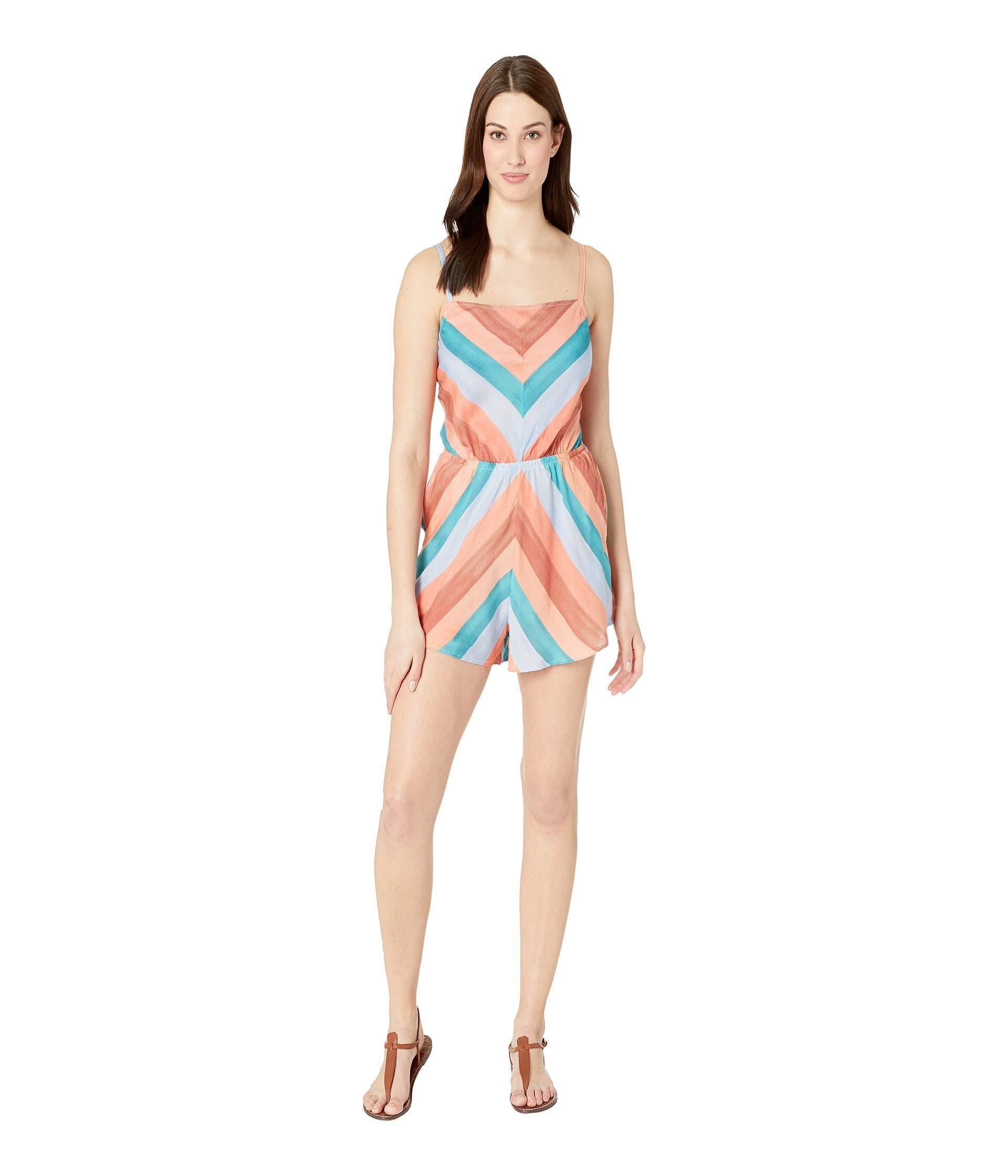 bb533dd741c Lucky Brand. Block Party Romper Cover-up (multi) Women s Swimsuits One Piece