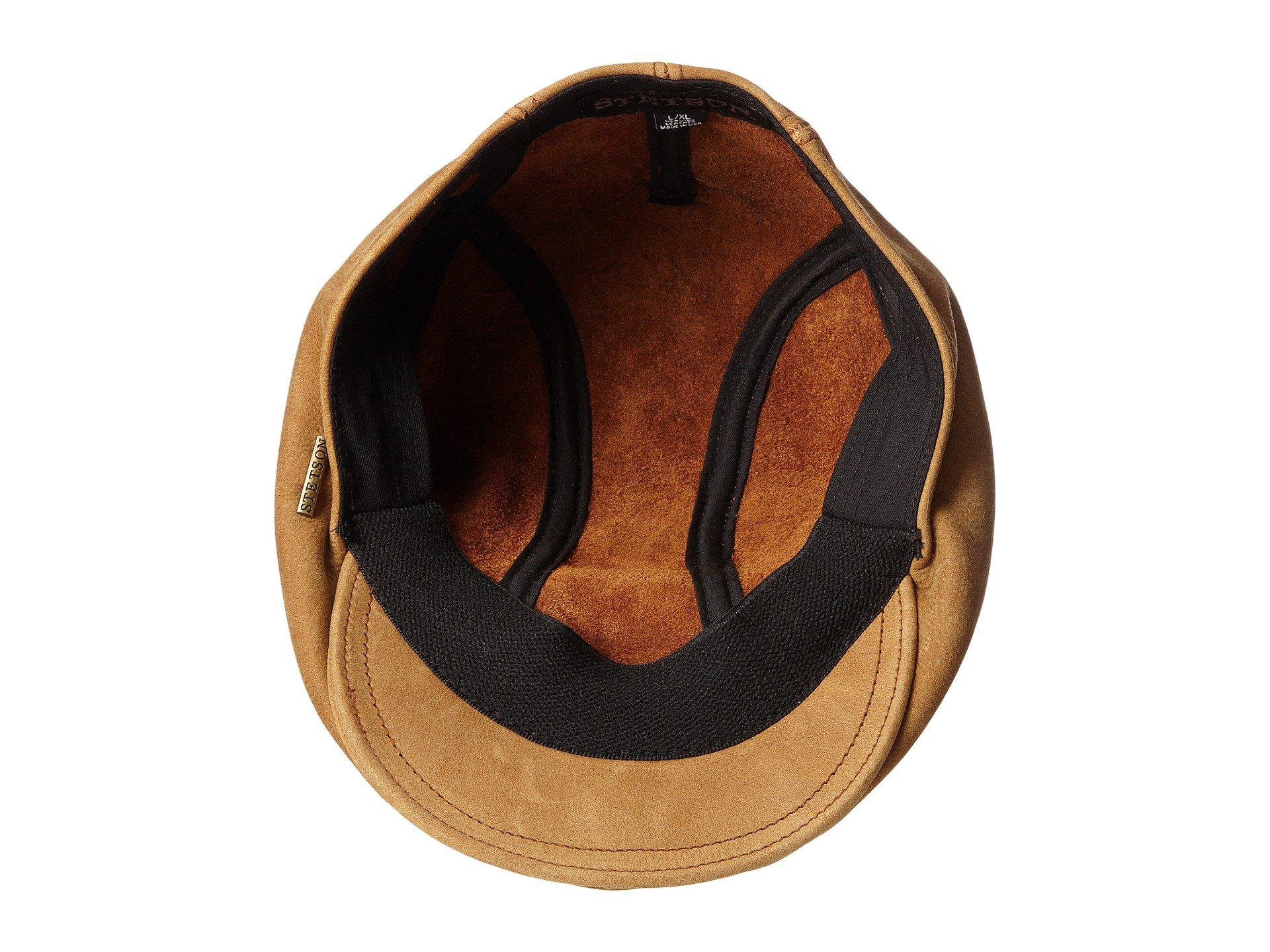 Lyst - Stetson Distressed Leather Ivy Cap (brown) Caps in Brown for Men ed1666a4b4cb