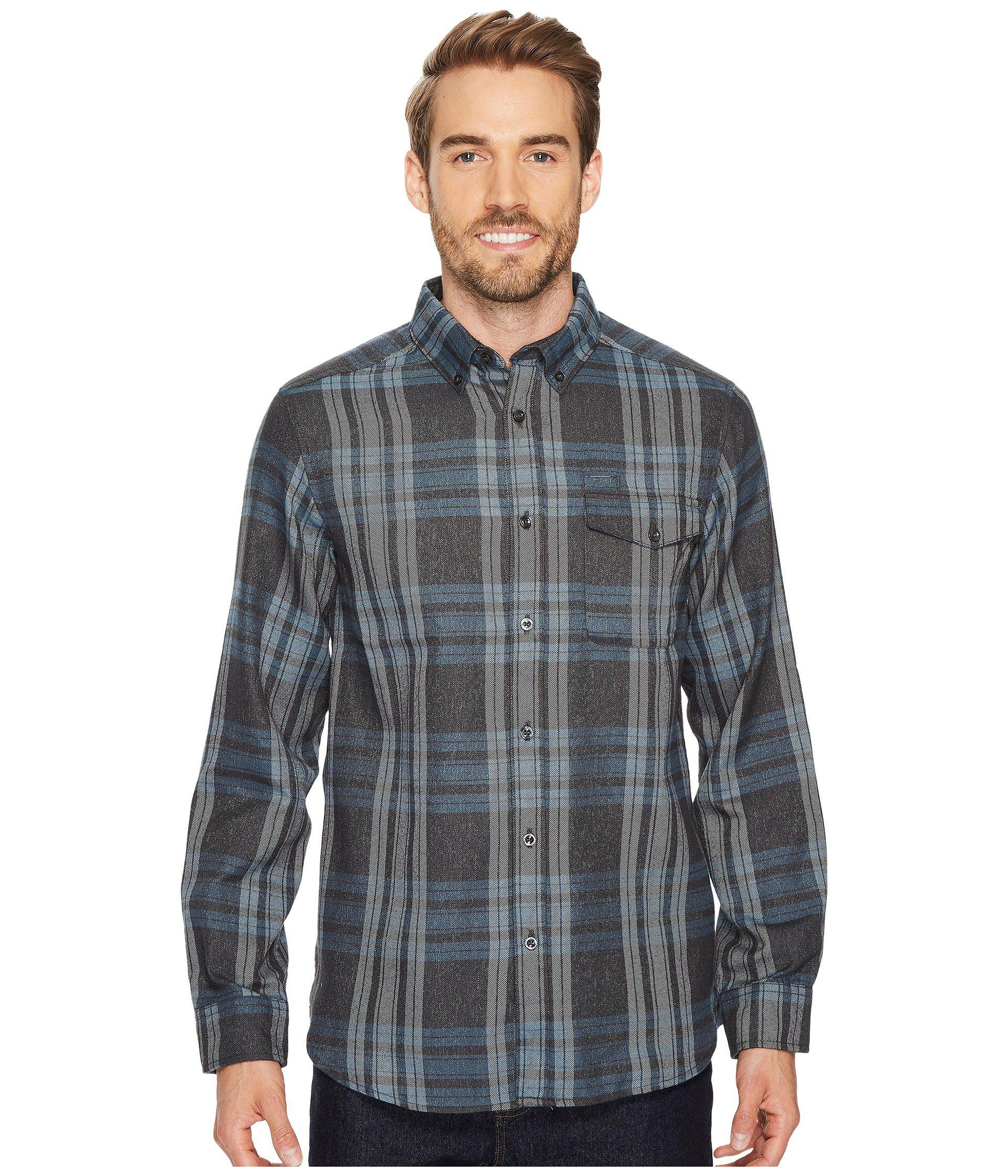 dab29a673 The North Face Gray Long Sleeve Thermocore Shirt (asphalt Grey Plaid) Long  Sleeve Button Up for men
