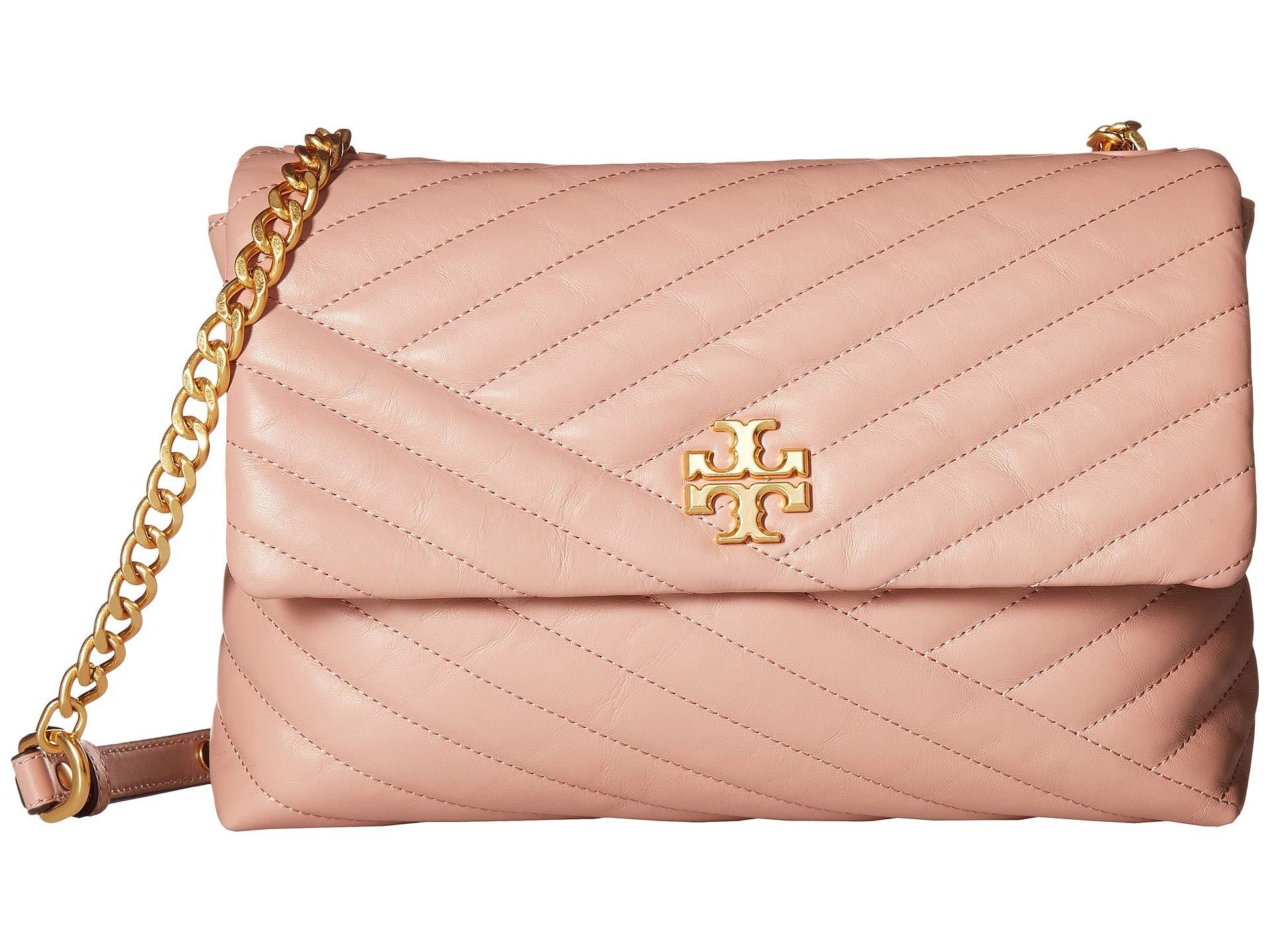 a6790edef Tory Burch. Women s Pink Kira Chevron Flap Shoulder Bag (new Ivory) Handbags