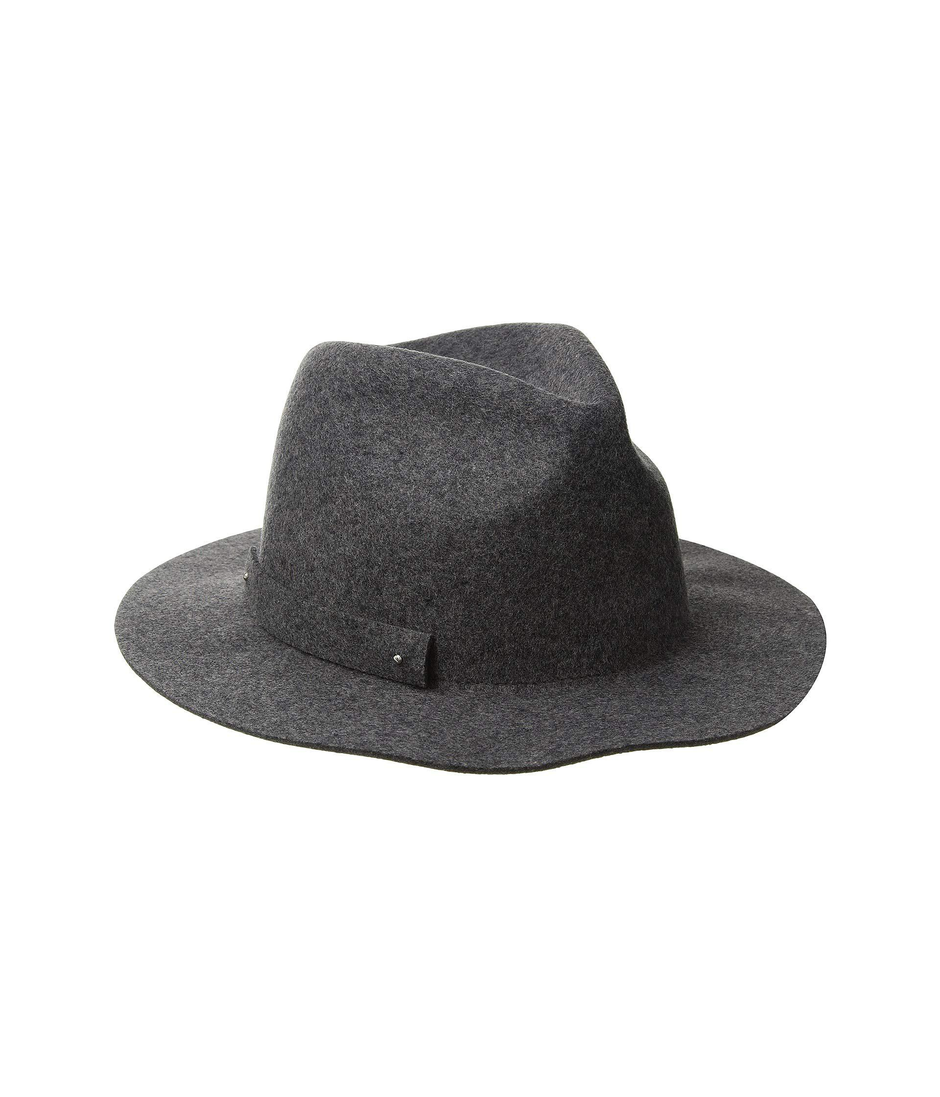 82cefdcb2e1 Lyst - San Diego Hat Company Wfh8205 Packable Felt Fedora (charcoal ...