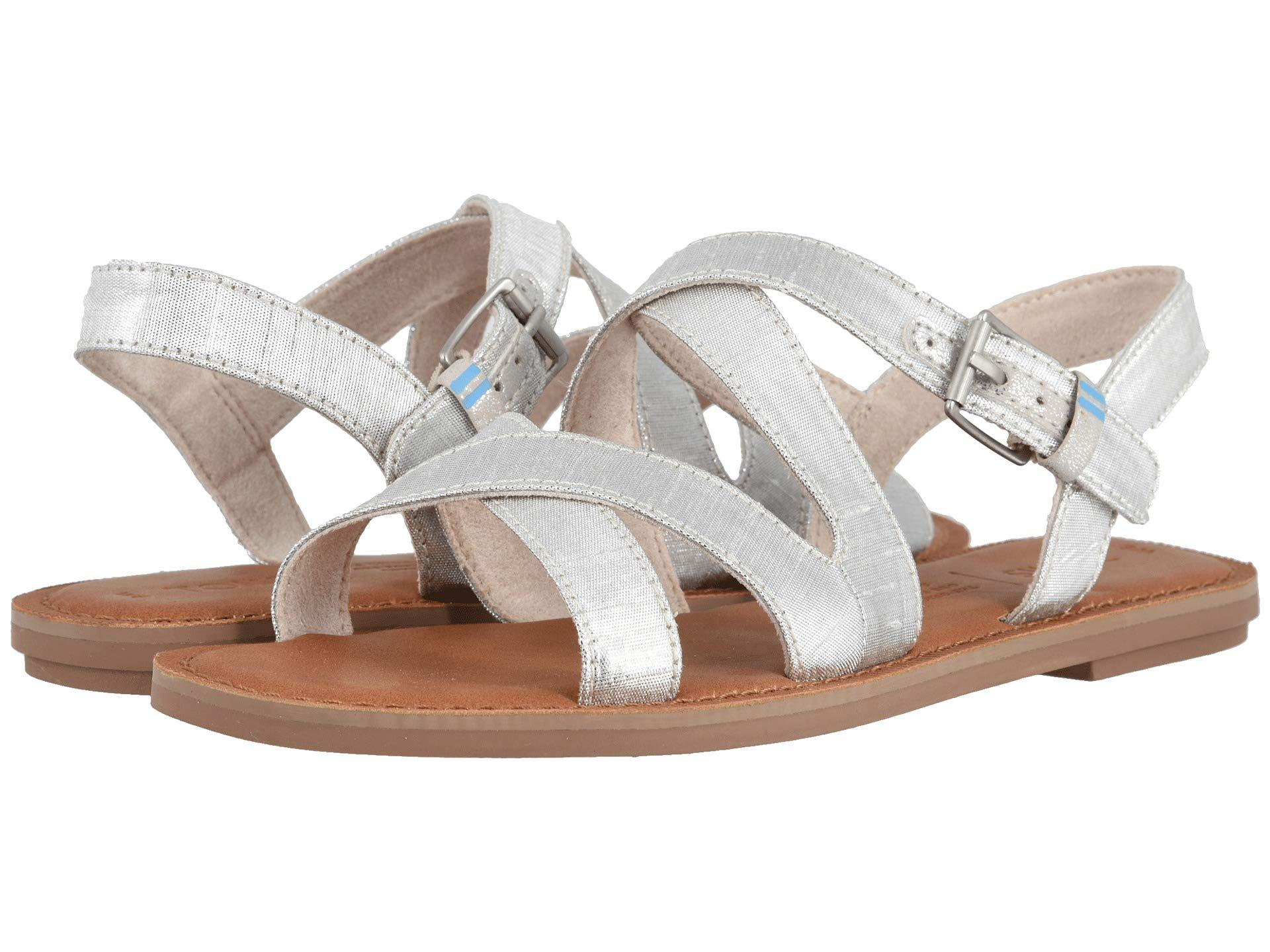 f01c2480051 TOMS Sicily Sandal in Metallic - Save 20% - Lyst