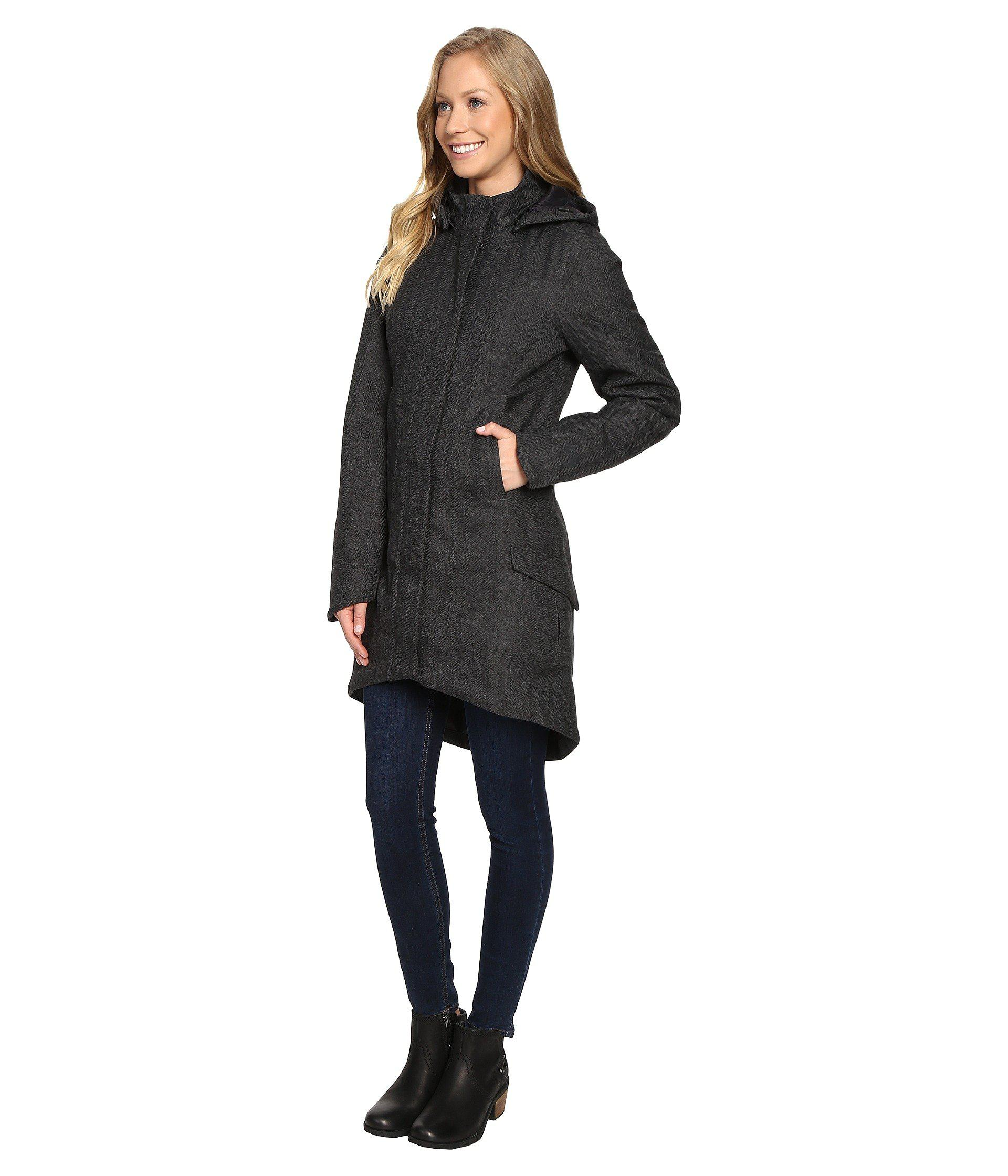 978959098 The North Face Gray Temescal Trench Coat (tnf Dark Grey Heather Herringbone  (prior Season)) Women's Coat