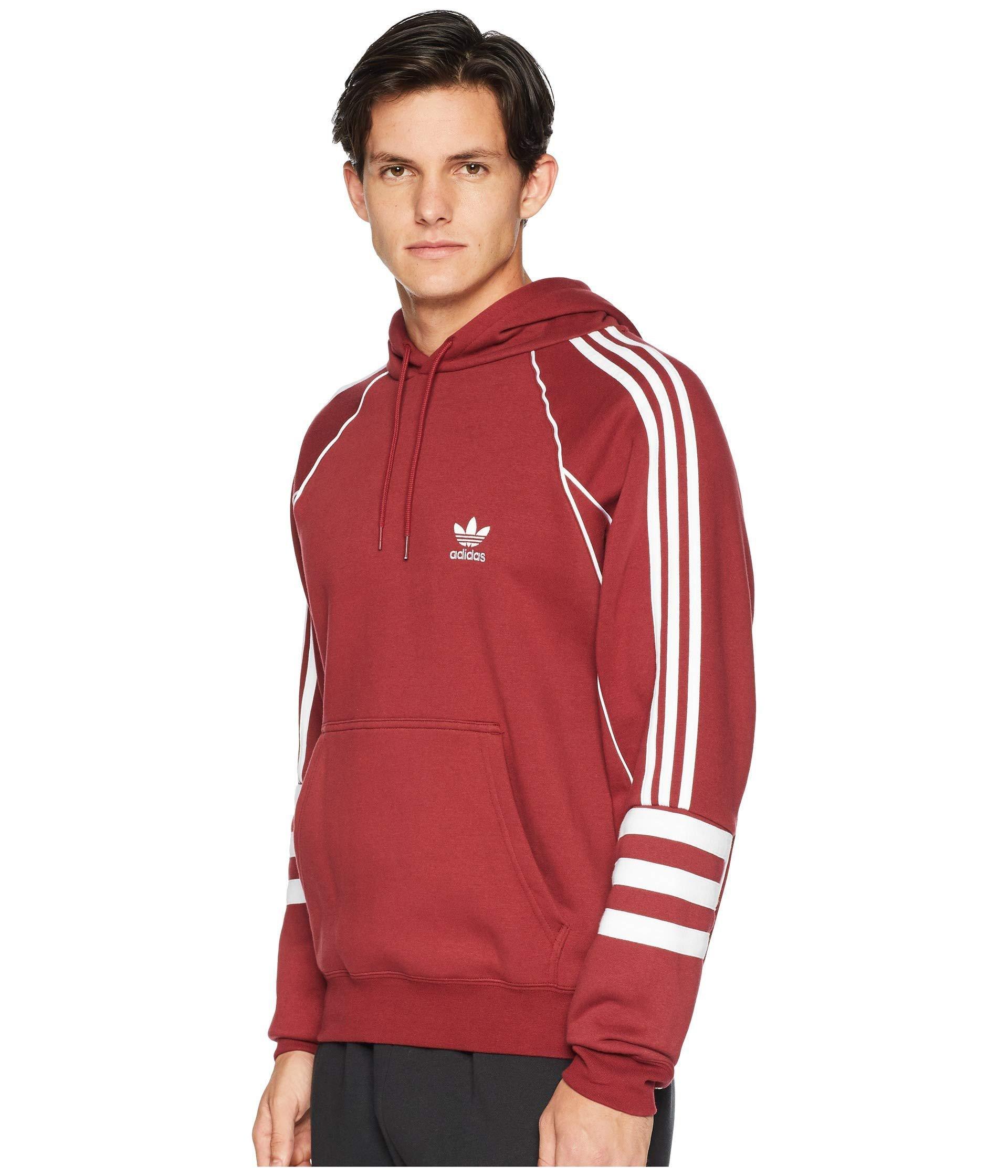 adidas Originals Men's Authentics Hoodie, Noble Maroon, S at