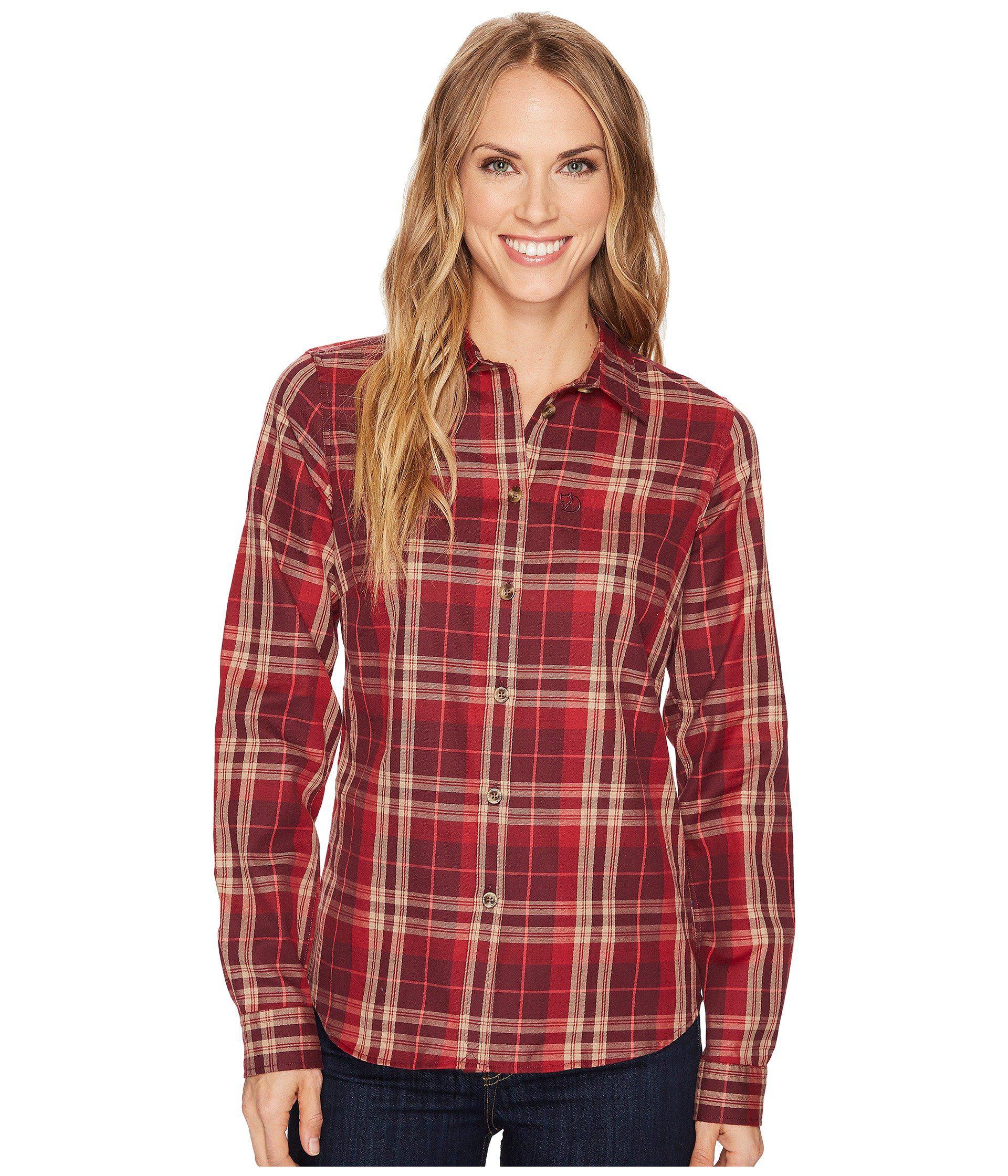 Fj/ällr/även Womens /Övik Flannel Shirt Ls W /Övik Flannel Shirt