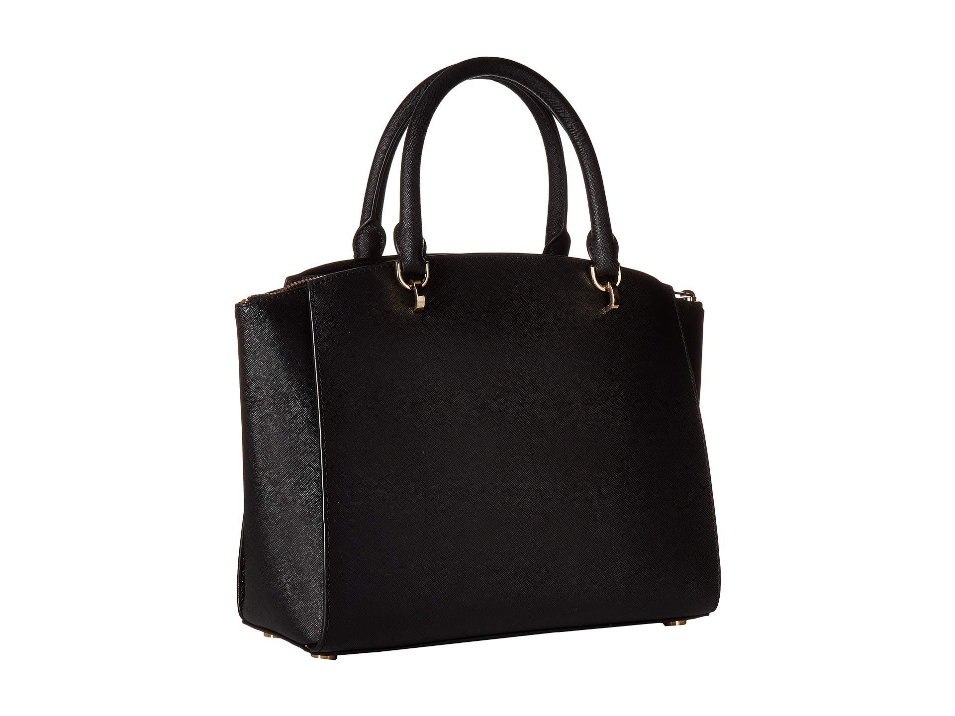 60230bf298a8 MICHAEL Michael Kors - Ellis Large Satchel (black) Satchel Handbags - Lyst.  View fullscreen