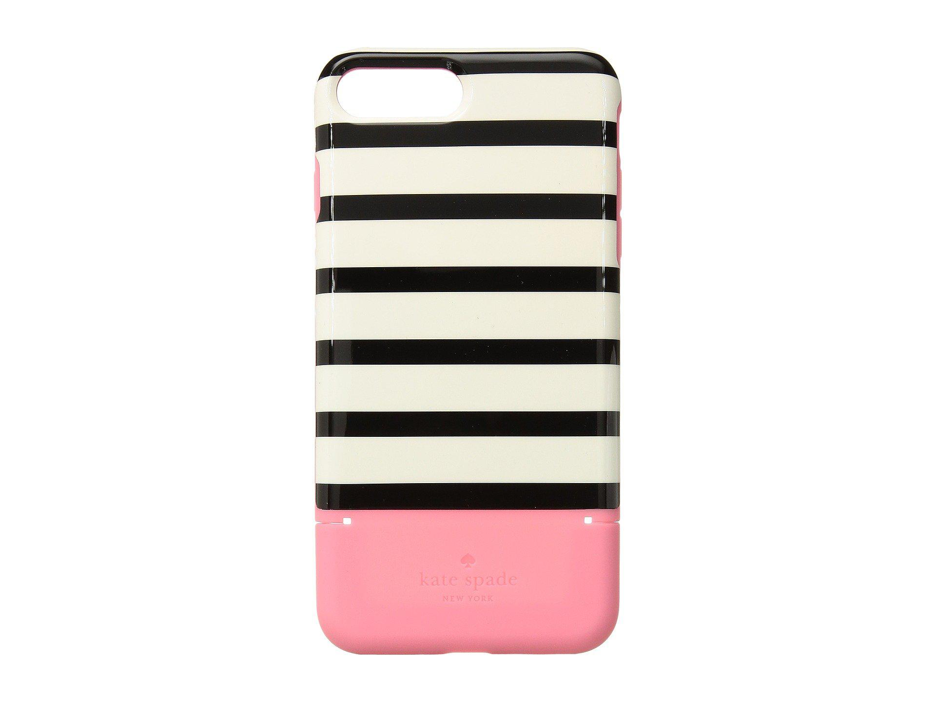 Kate Spade Rubber Stripe Credit Card Phone Case For Iphone 7 Plus