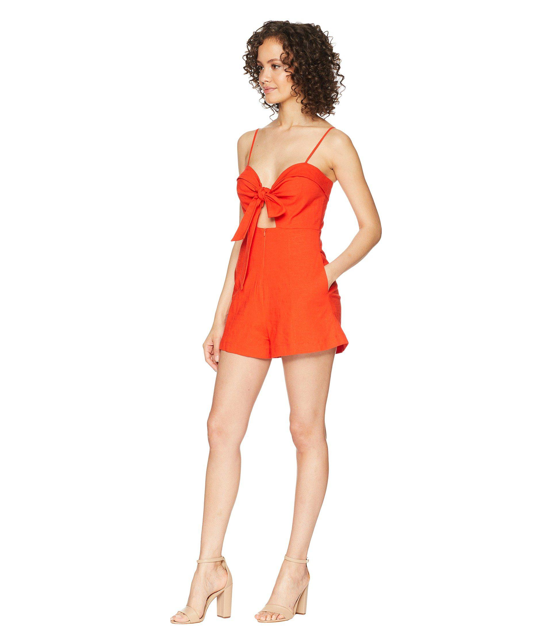 425428c92350 Lyst - Astr Reese Romper (hot Red) Women s Jumpsuit   Rompers One ...