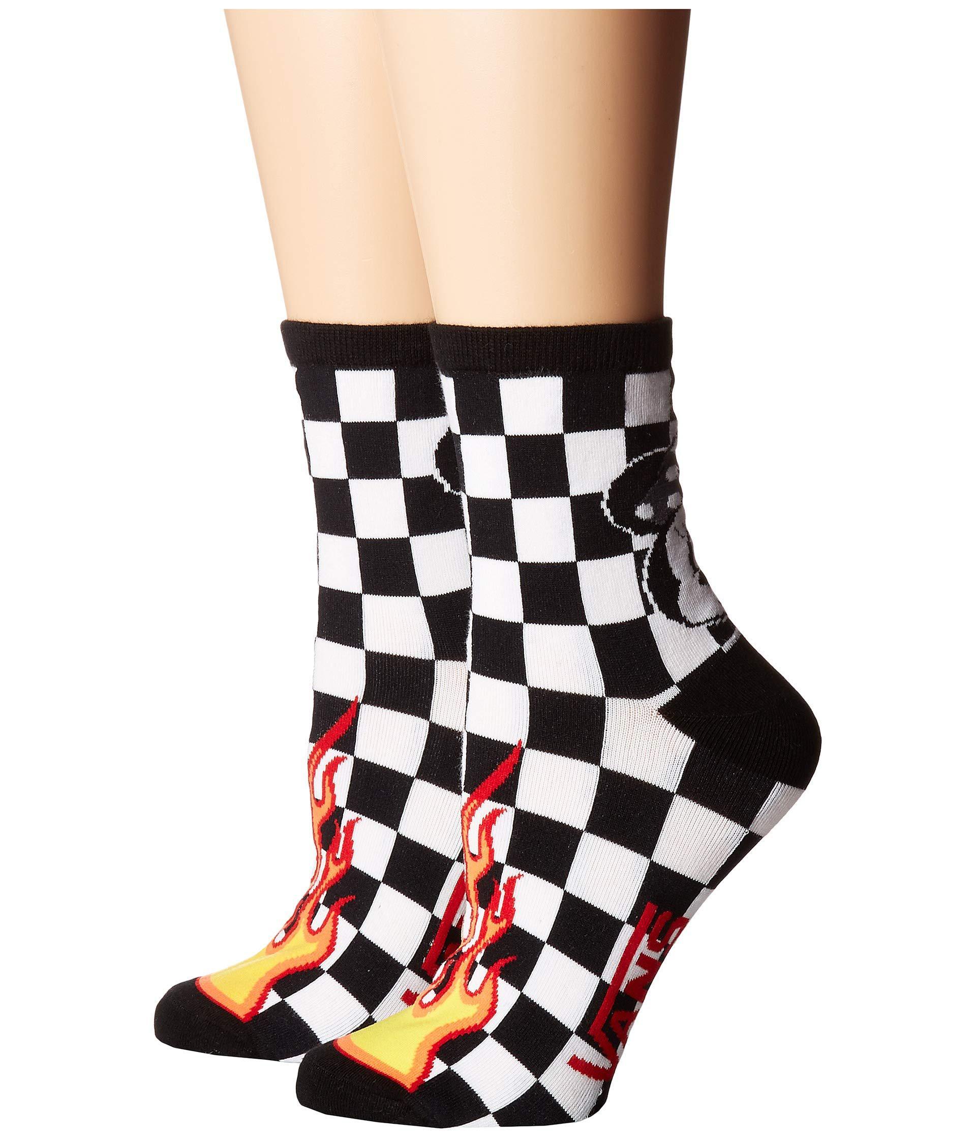 3098b74a17bcf1 Lyst - Vans Mickey s 90th Punk Mickey Crew Socks (black) Women s ...