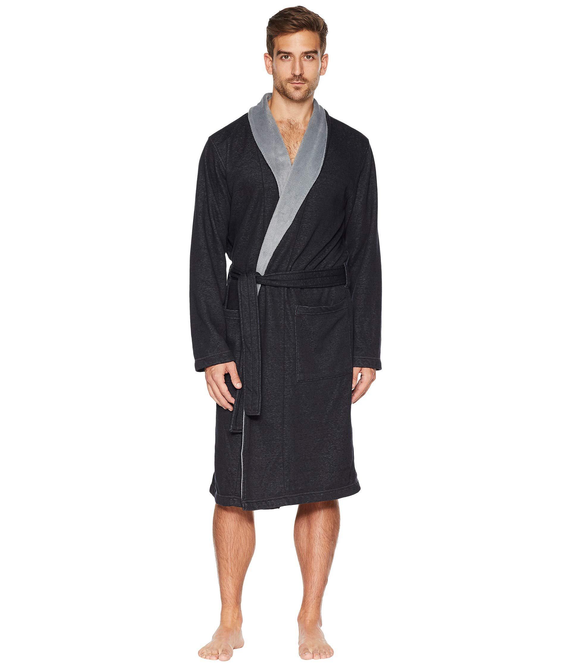f0091201fd Lyst - UGG Robinson Robe (grey Heather) Men s Robe in Black for Men