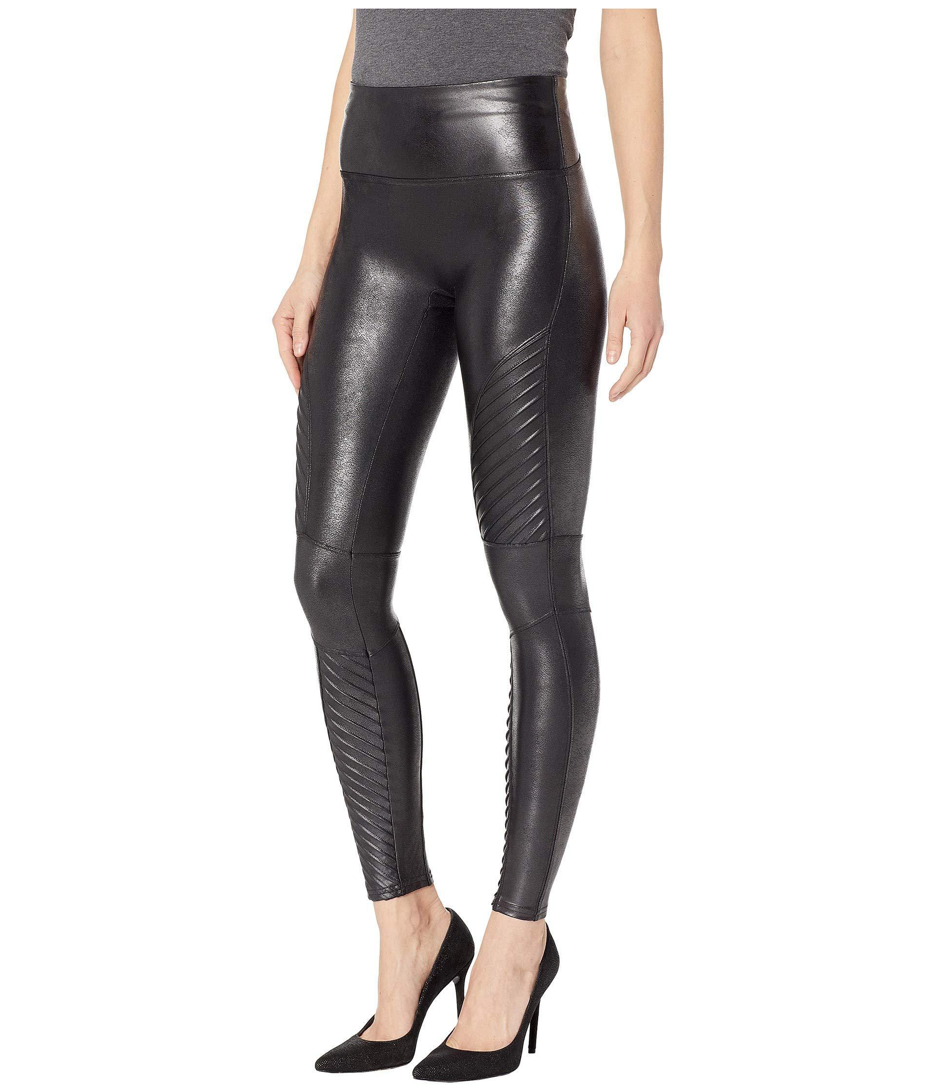 d55563ac62f89 Spanx Faux Leather Leggings Moto Petite (black) Women's Casual Pants ...