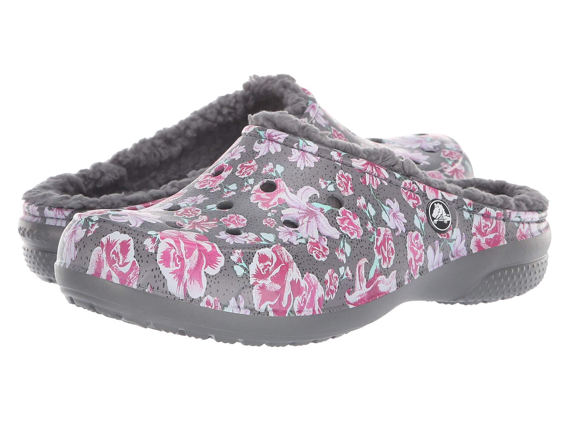 93a4d0303 Lyst - Crocs™ Freesail Graphic Lined (black floral) Women s Clog ...