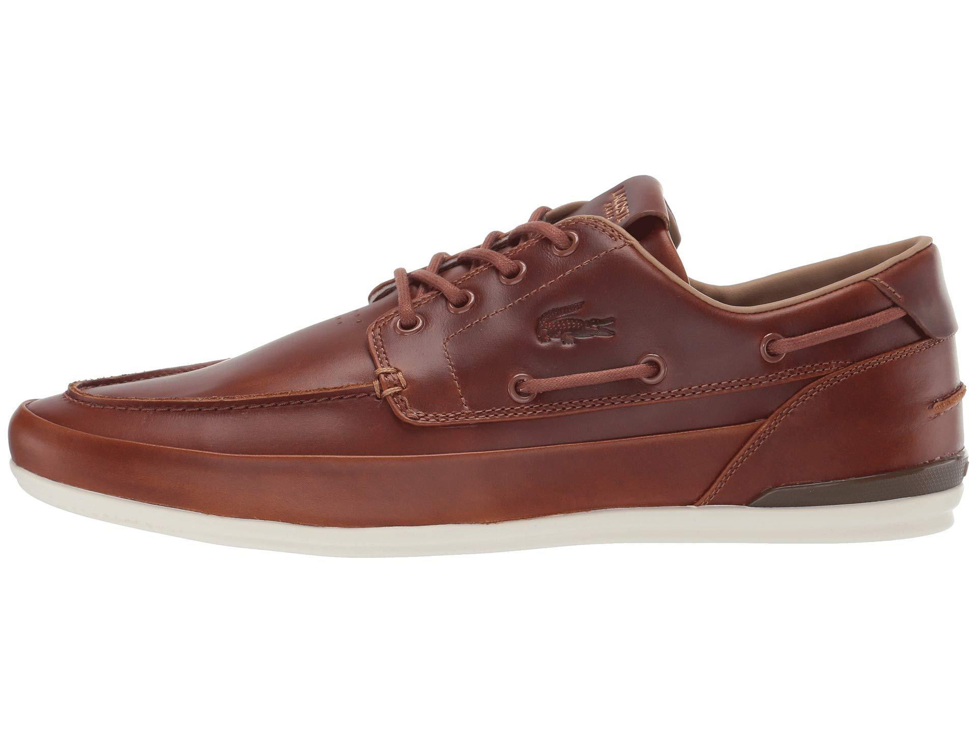 Lacoste Marina 119 6 CMA Boat Shoe Tan//Off White