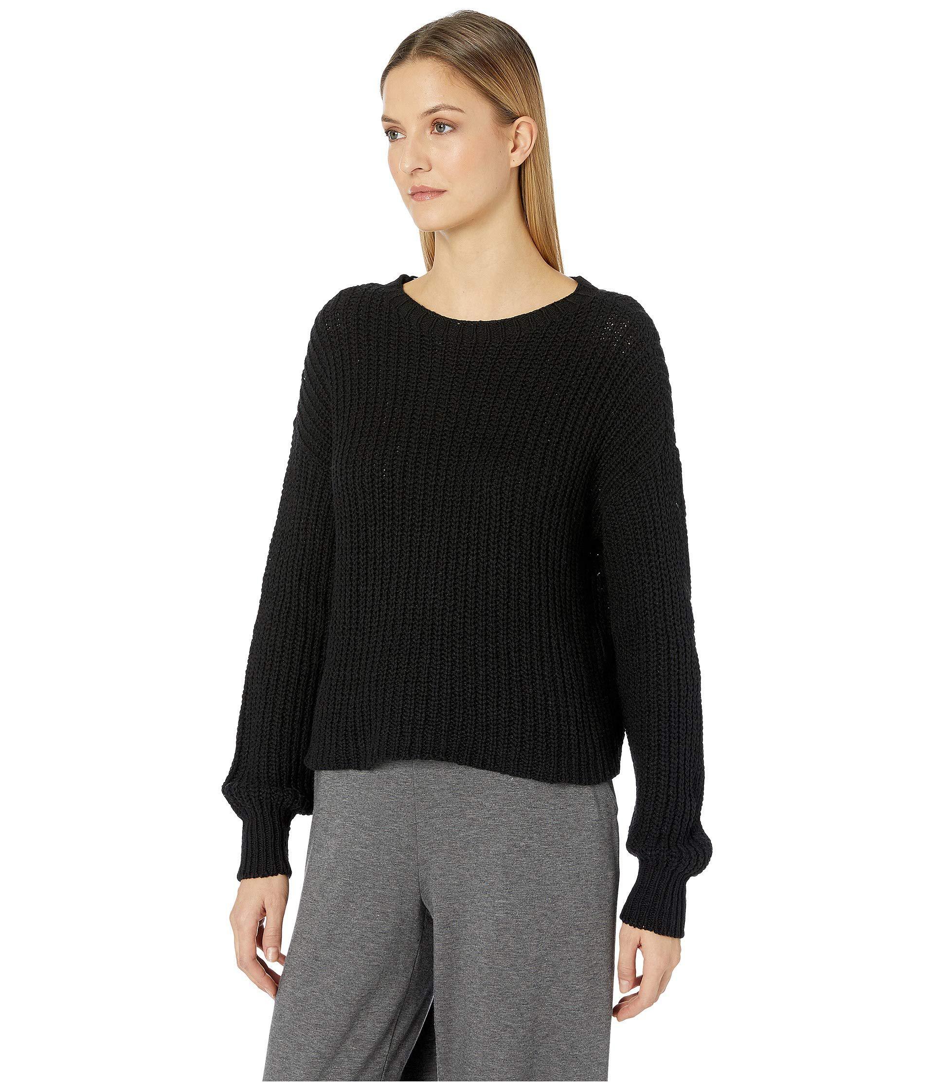 8ee0add973502 Lyst - Eileen Fisher Scoop Neck Top (black) Women s Sweater in Black