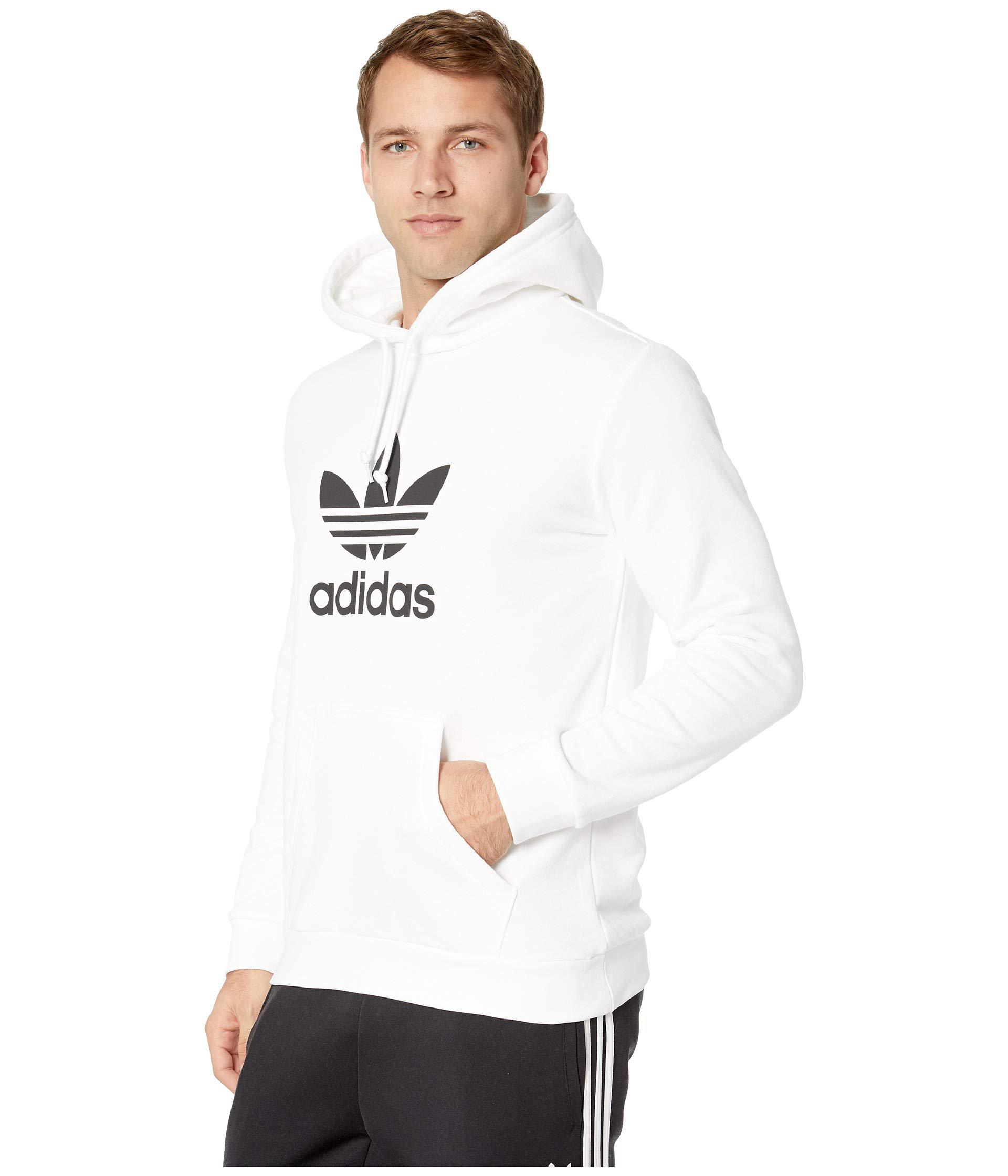 c216a810cb98 Lyst - adidas Originals Trefoil Hoodie (medium Grey Heather) Men s  Sweatshirt in White for Men