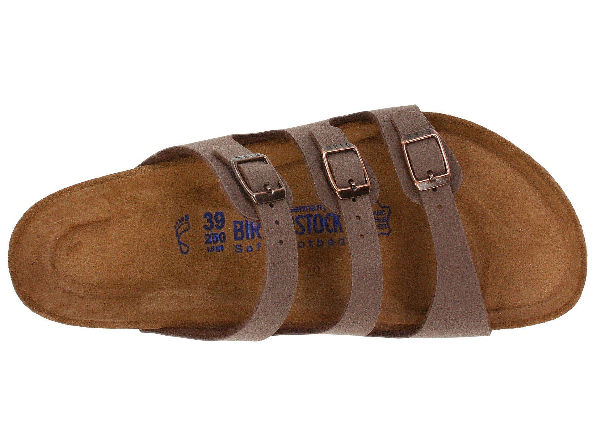 e8d03465f8 Birkenstock - Brown Florida Soft Footbed - Birkibuc (mocha Birkibuc)  Women s Sandals - Lyst. View fullscreen