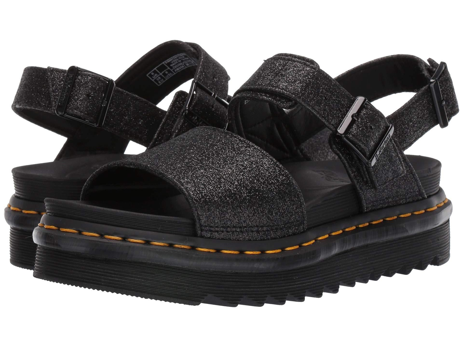 dr martens sandals glitter