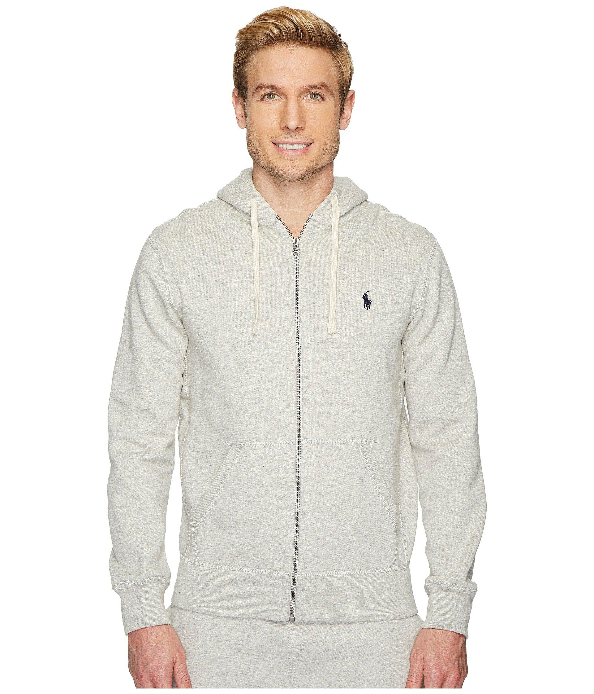 Gray Classic Fleece Polo Sweatshirt Full Ralph Sport Lauren For Zip HeatherMen's Hoodielight Men UzqMVSp