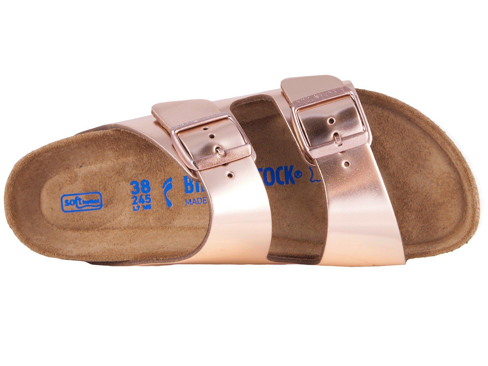 6a4600e18b37 Birkenstock - Pink Arizona Soft Footbed (copper Leather) Women s Dress  Sandals - Lyst. View fullscreen