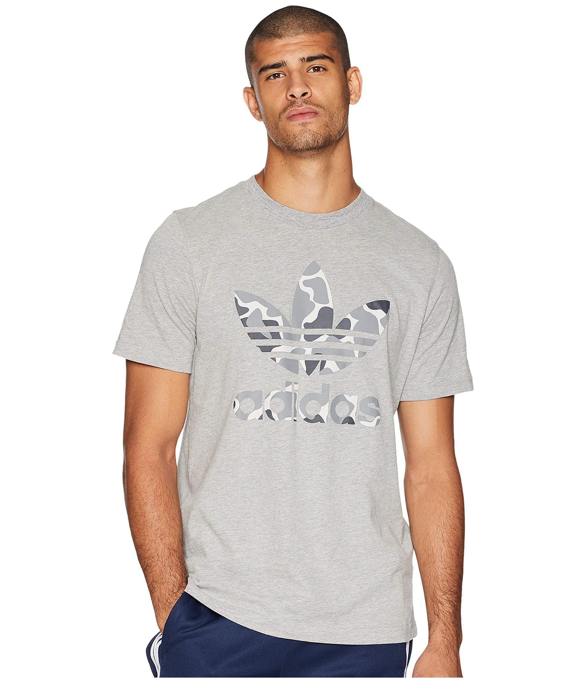 a32e863f Adidas Originals Gray Camo Trefoil Tee (black) Men's T Shirt for men