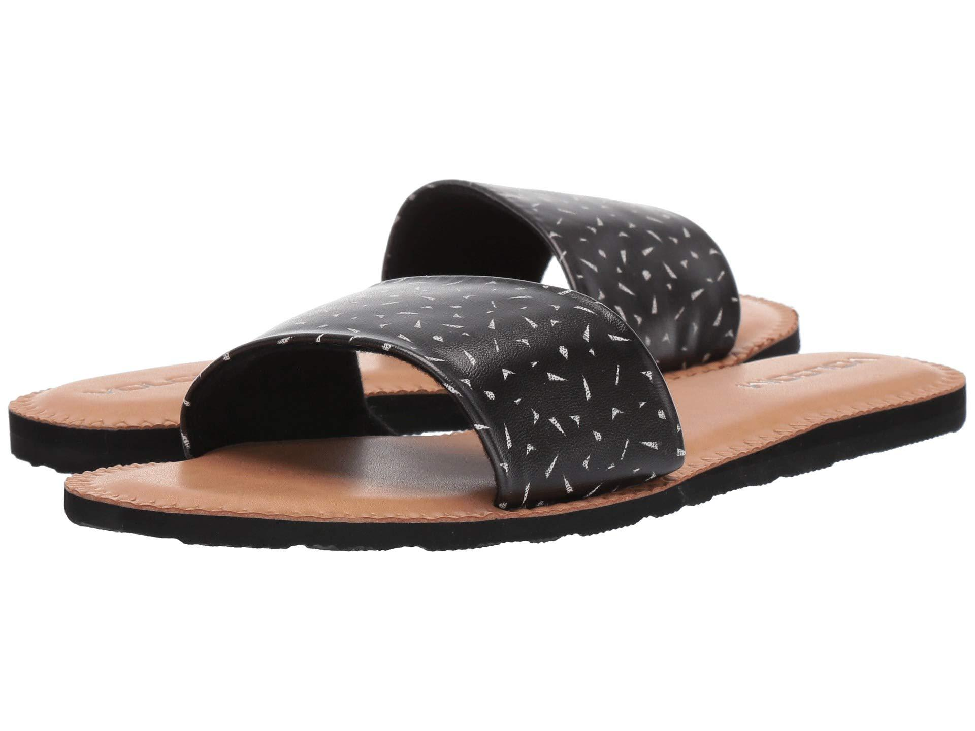a6b3f3129 Volcom - Simple Slide Sandals (black Combo) Women s Sandals - Lyst. View  fullscreen