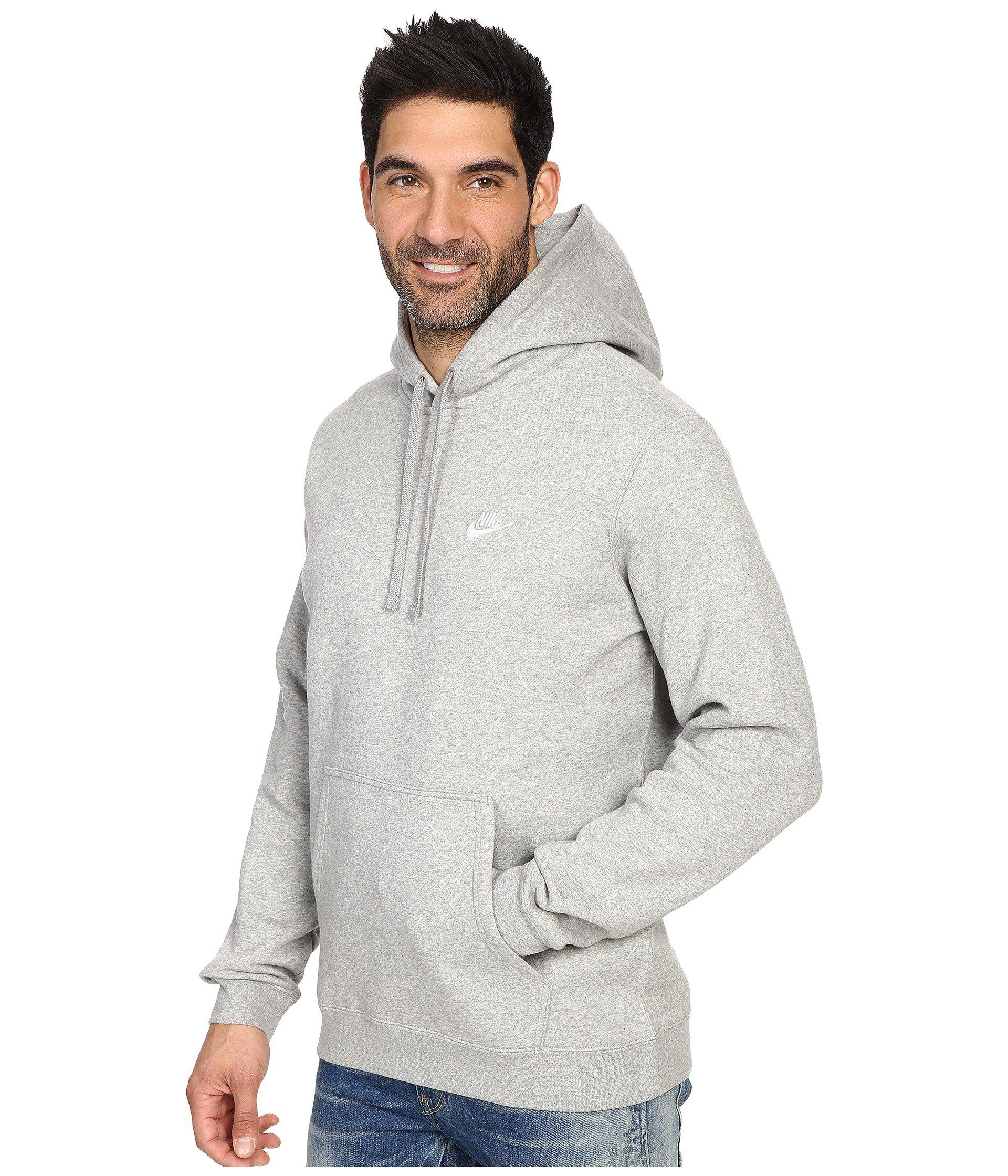 9244e4fbacf5cc Lyst - Nike Club Fleece Pullover Hoodie (black black white) Men s Fleece in  Gray for Men - Save 25%
