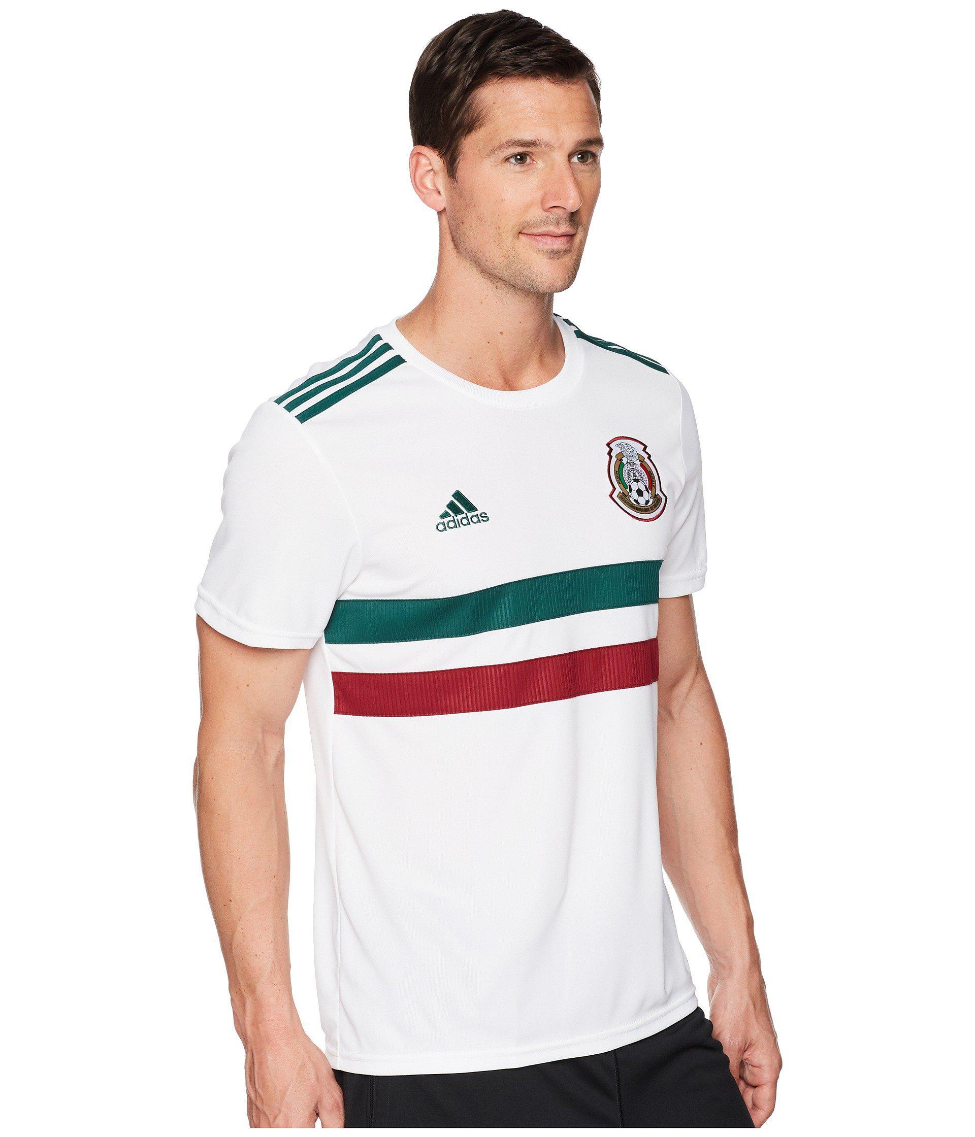competitive price 844b2 a1e85 Men's White 2018 Mexico Away Replica Jersey