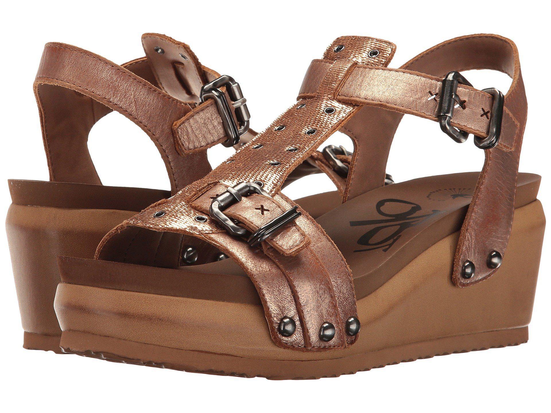 ab4d6ddbc037 Lyst - Otbt Caravan (copper) Women s Wedge Shoes in Brown