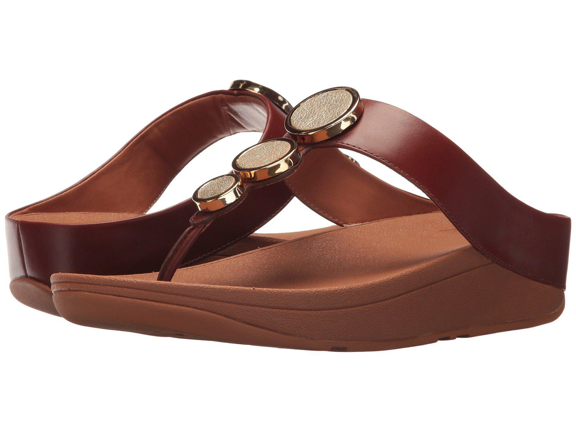 Fitflop Leather Halo Toe Thong Sandals