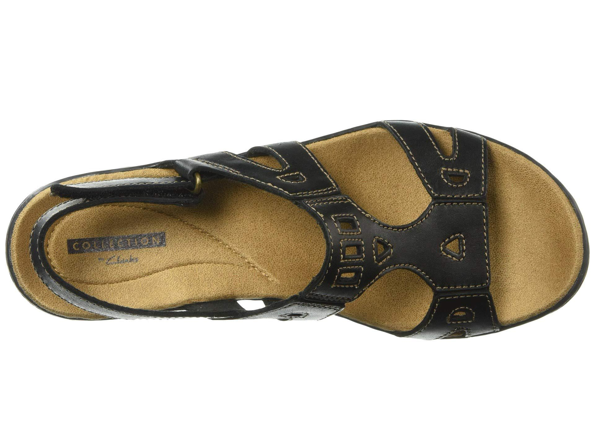 79de9074c916 Clarks - Black Leisa Annual (dark Tan Leather) Women s Sandals - Lyst. View  fullscreen