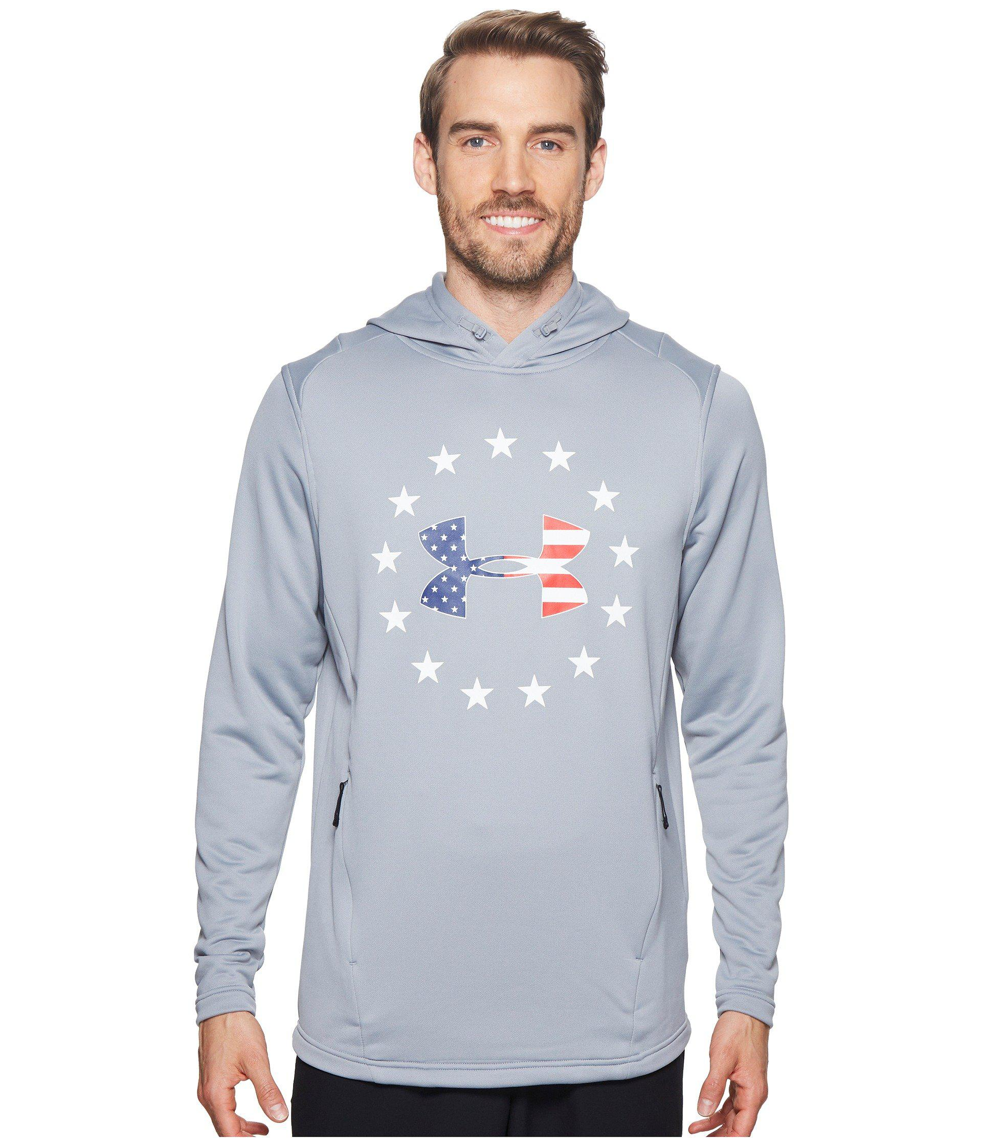 Under Armour Men/'s Black UA Freedom Tech French Terry Pullover Hoodie