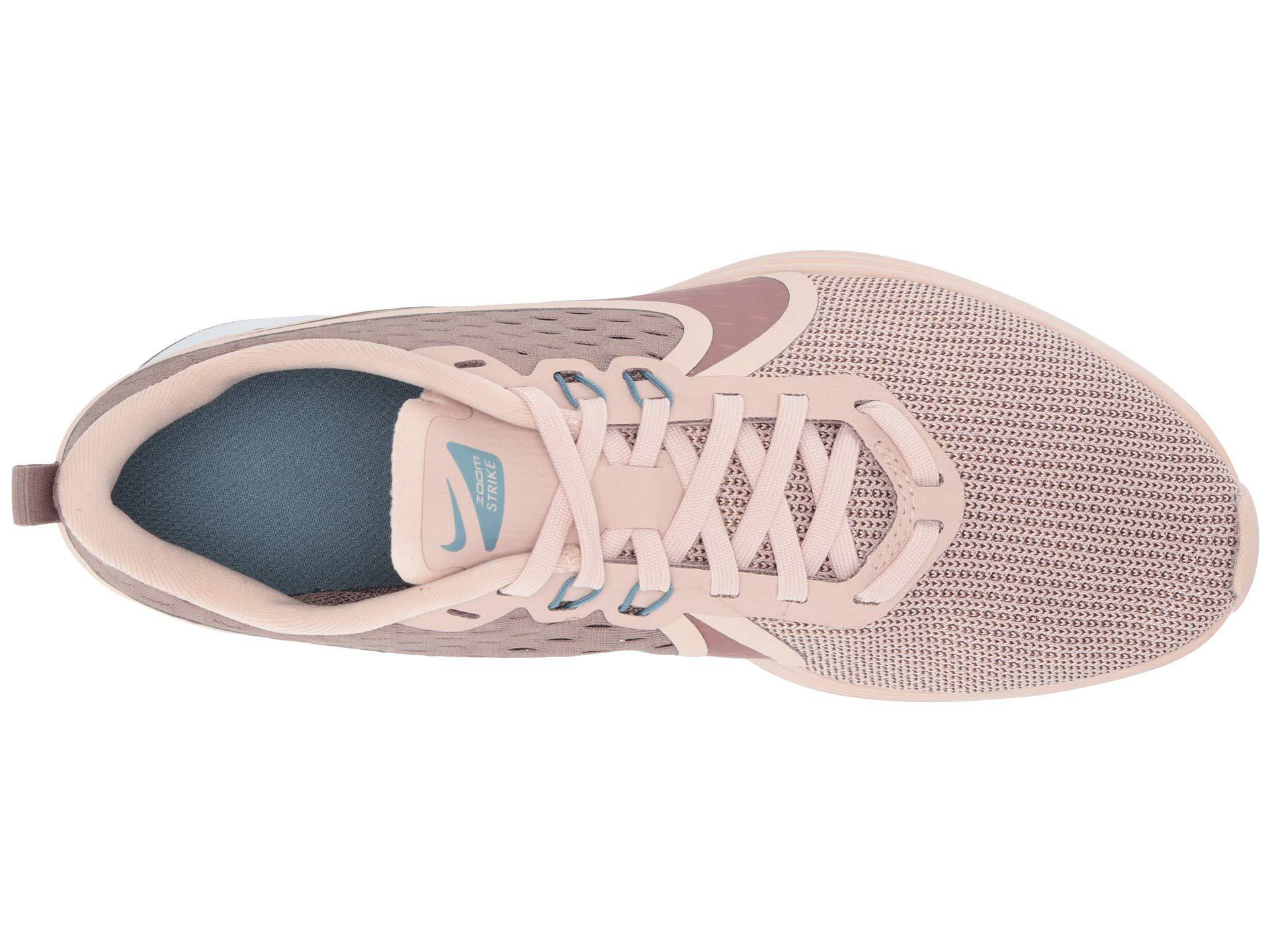 81c207f324ccb Lyst - Nike Zoom Strike 2 (black anthracite white) Women u0027s Running  Shoes