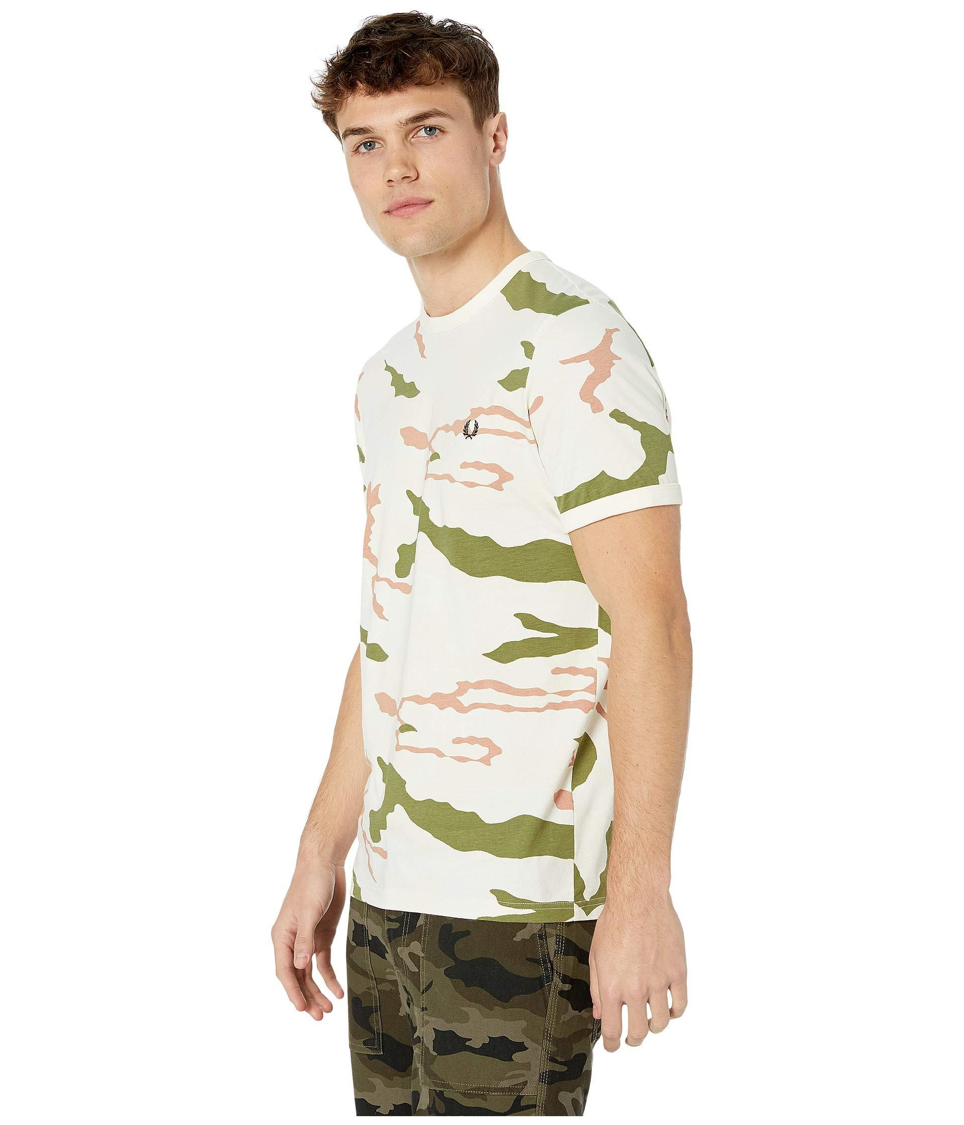 5c06d1d9 Lyst - Fred Perry Camouflage T-shirt (tundra Camo) Men's Clothing in Green  for Men