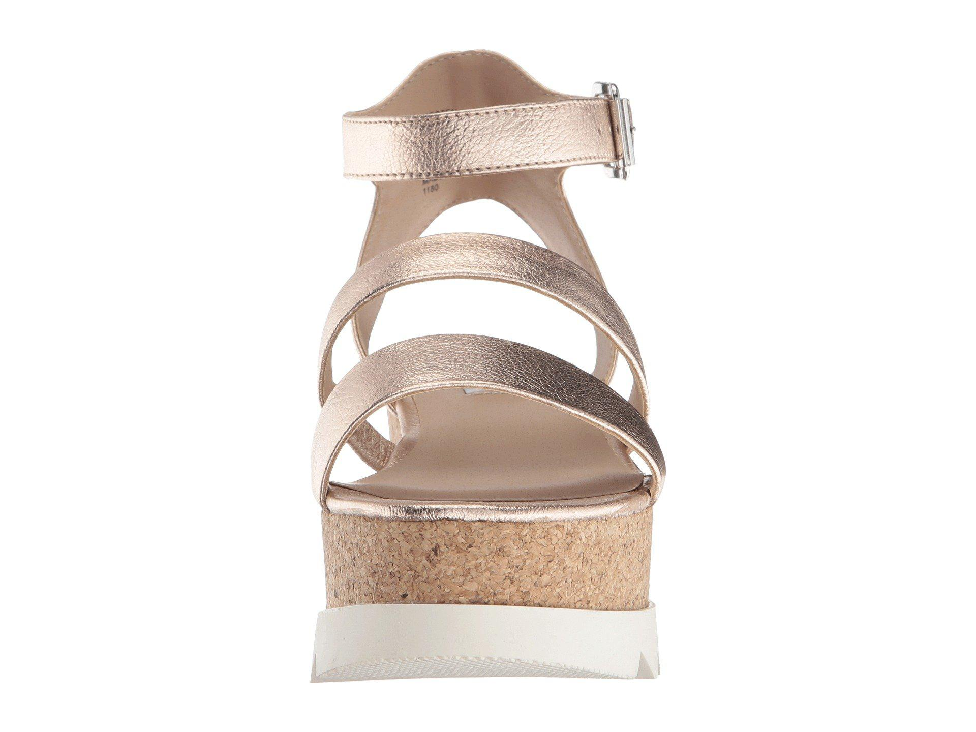 a1678bad59d Steve Madden - Multicolor Kirsten Cork Platform Wedge Sandal (black  Leather) Women s Shoes -. View fullscreen